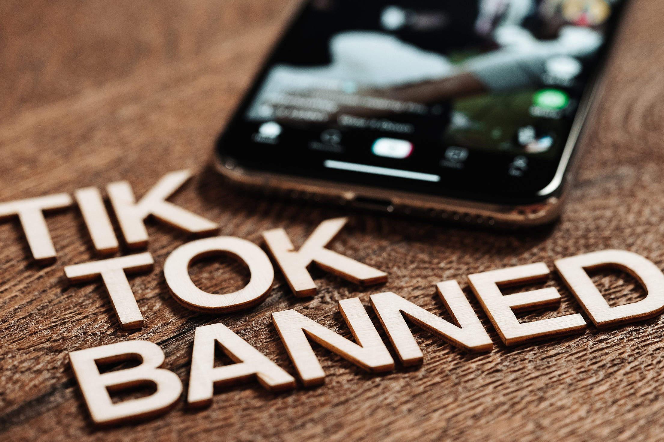 Tik Tok Banned Free Stock Photo