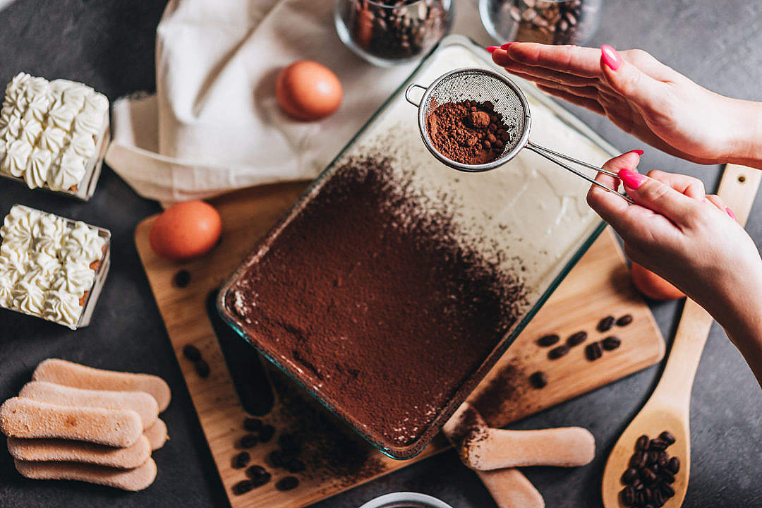 Download Tiramisu Making Process FREE Stock Photo
