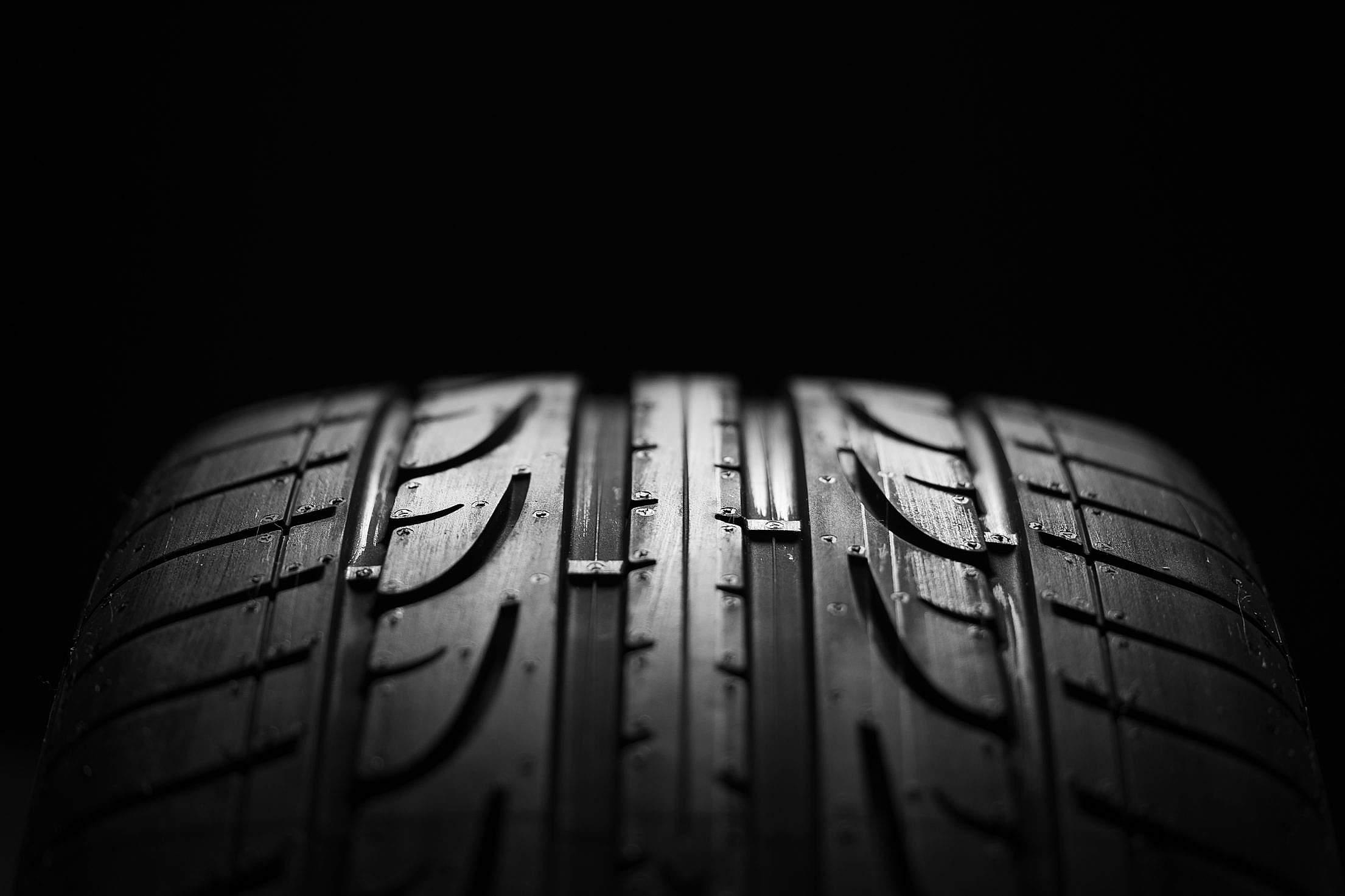 Tire Tread Pattern Close Up Free Stock Photo