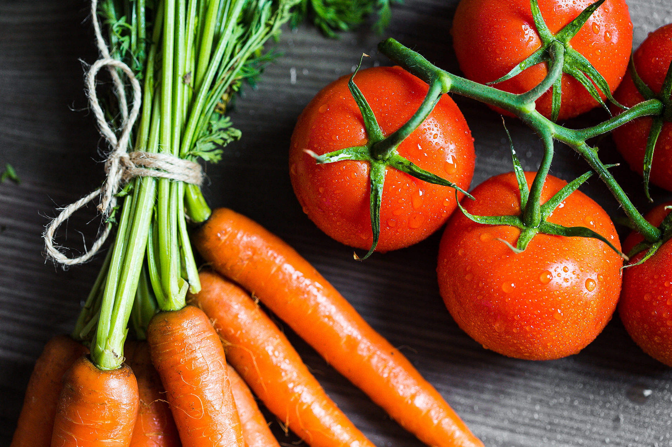 Tomatoes and Carrots Free Stock Photo
