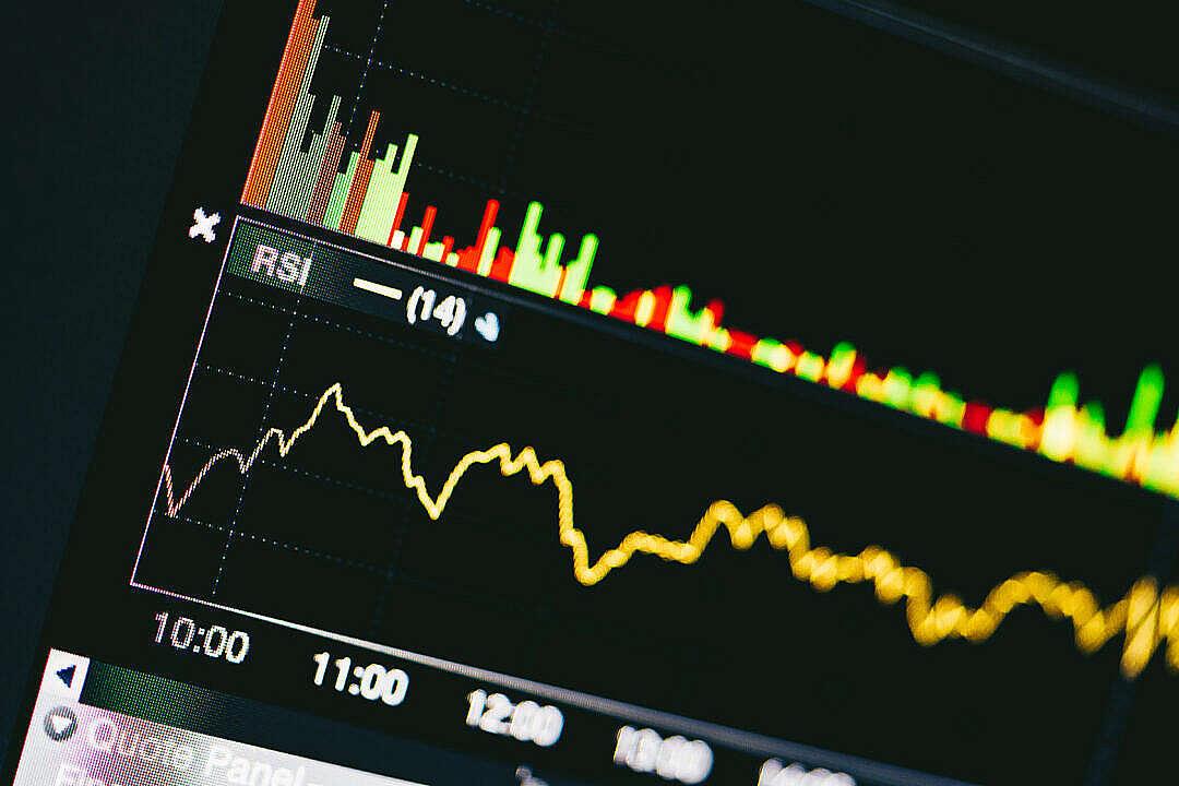 Download Trading RSI Indicator FREE Stock Photo