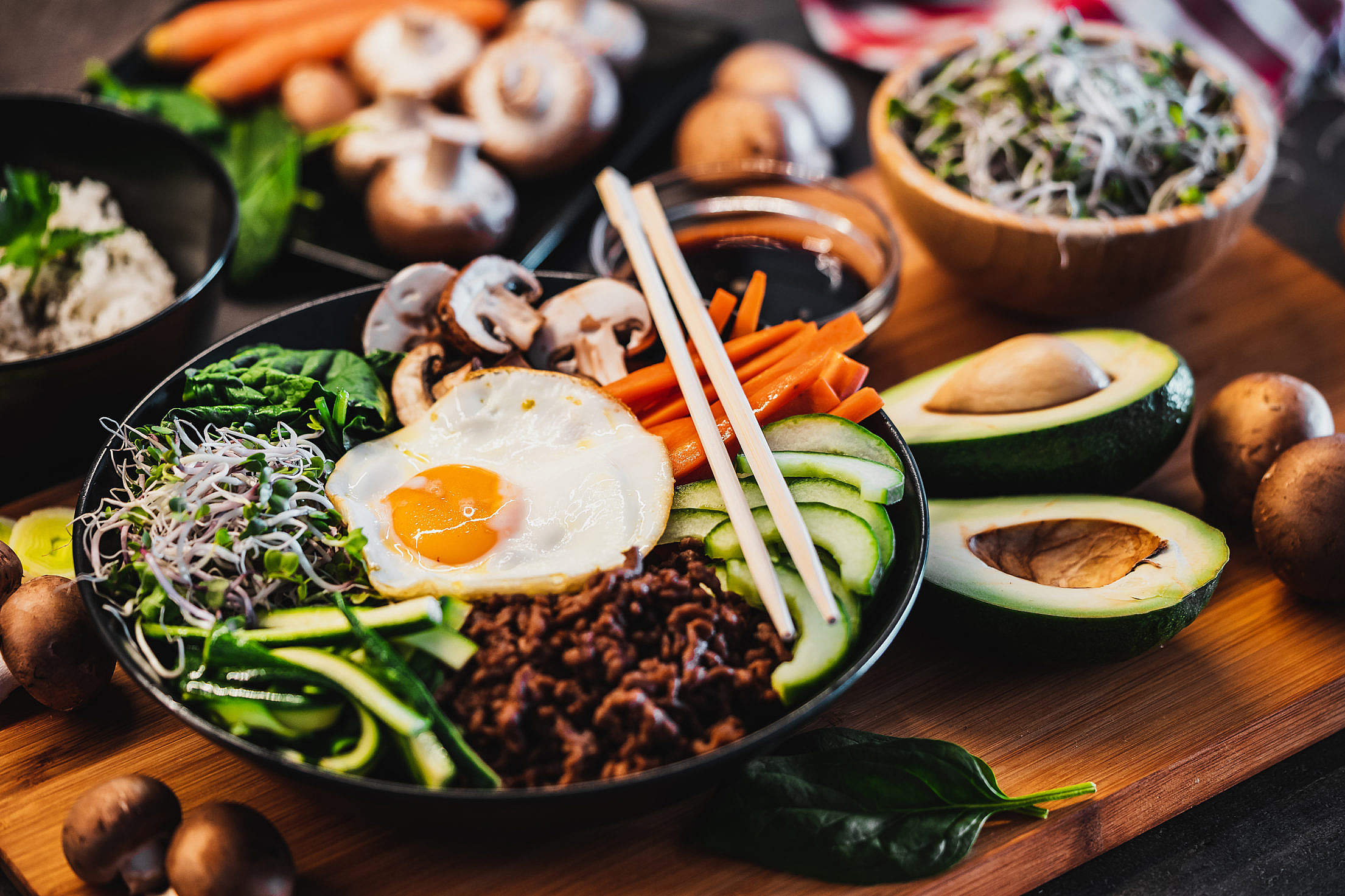 Traditional Korean Dish Bibimbap Free Stock Photo