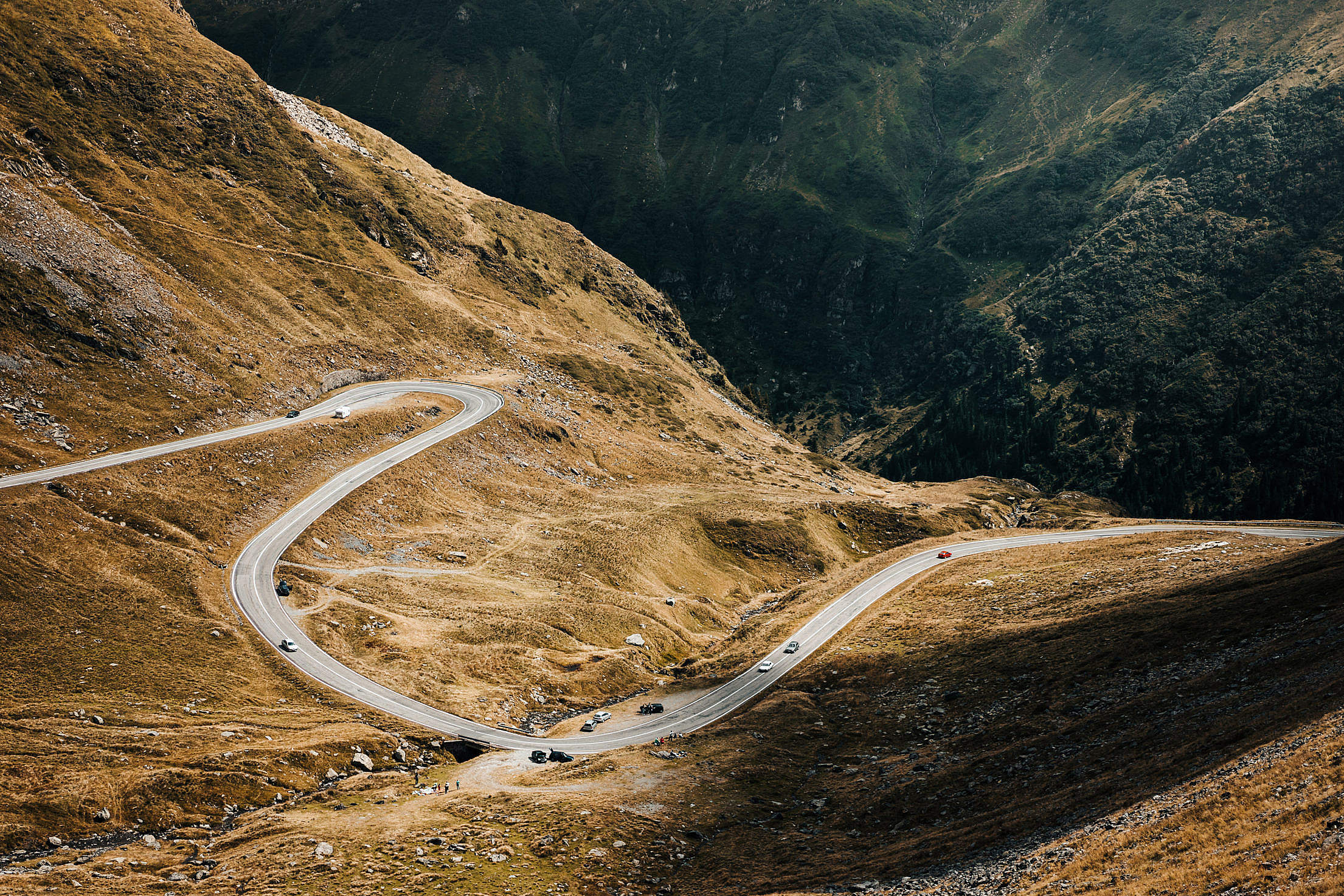 Download Transfagarasan Road in Romania Free Stock Photo