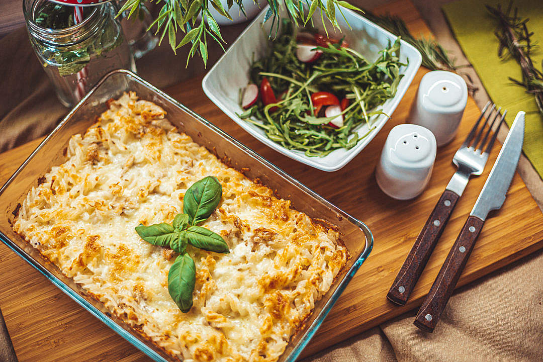 Download Tuna Pasta Bake FREE Stock Photo