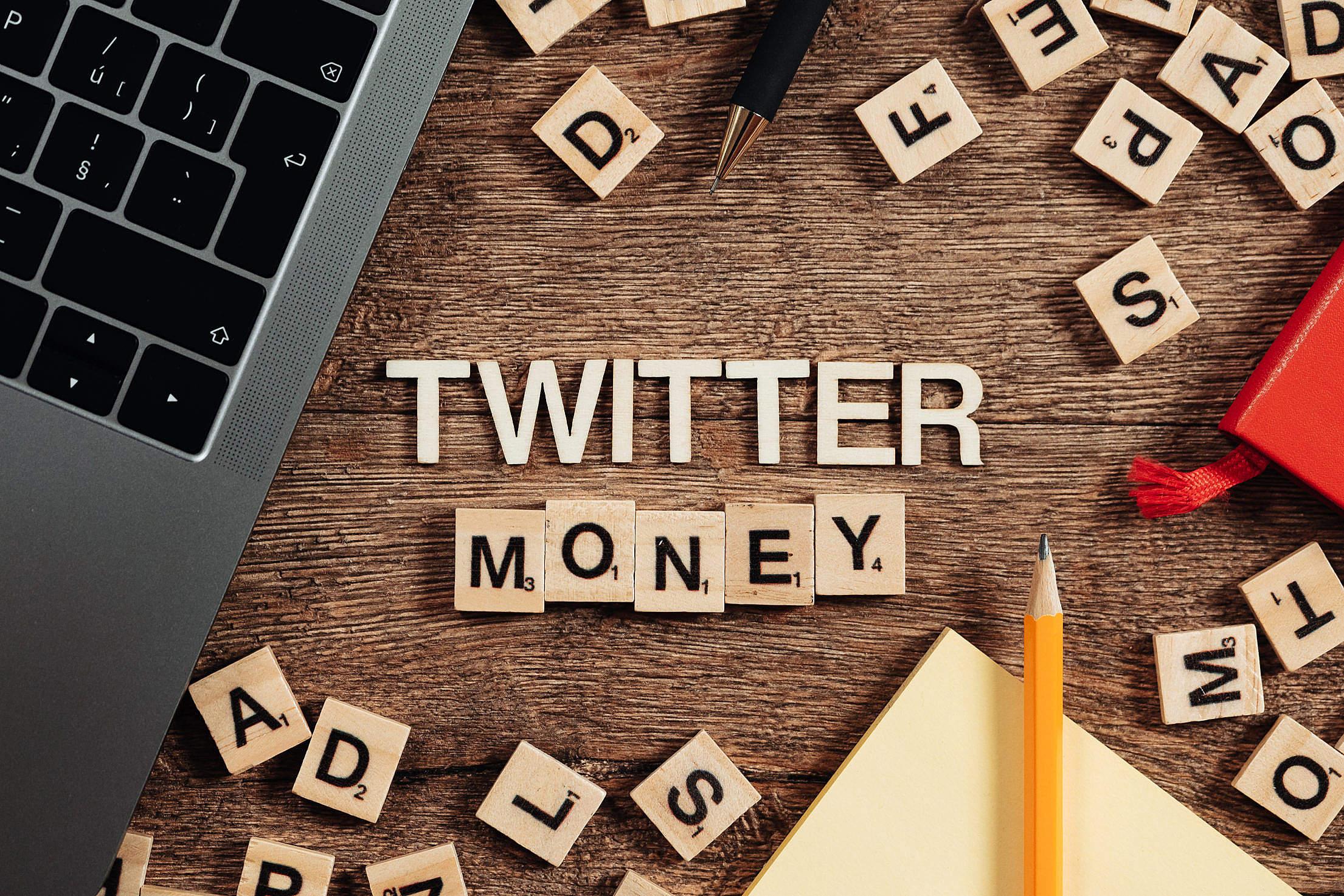 Twitter Money Free Stock Photo