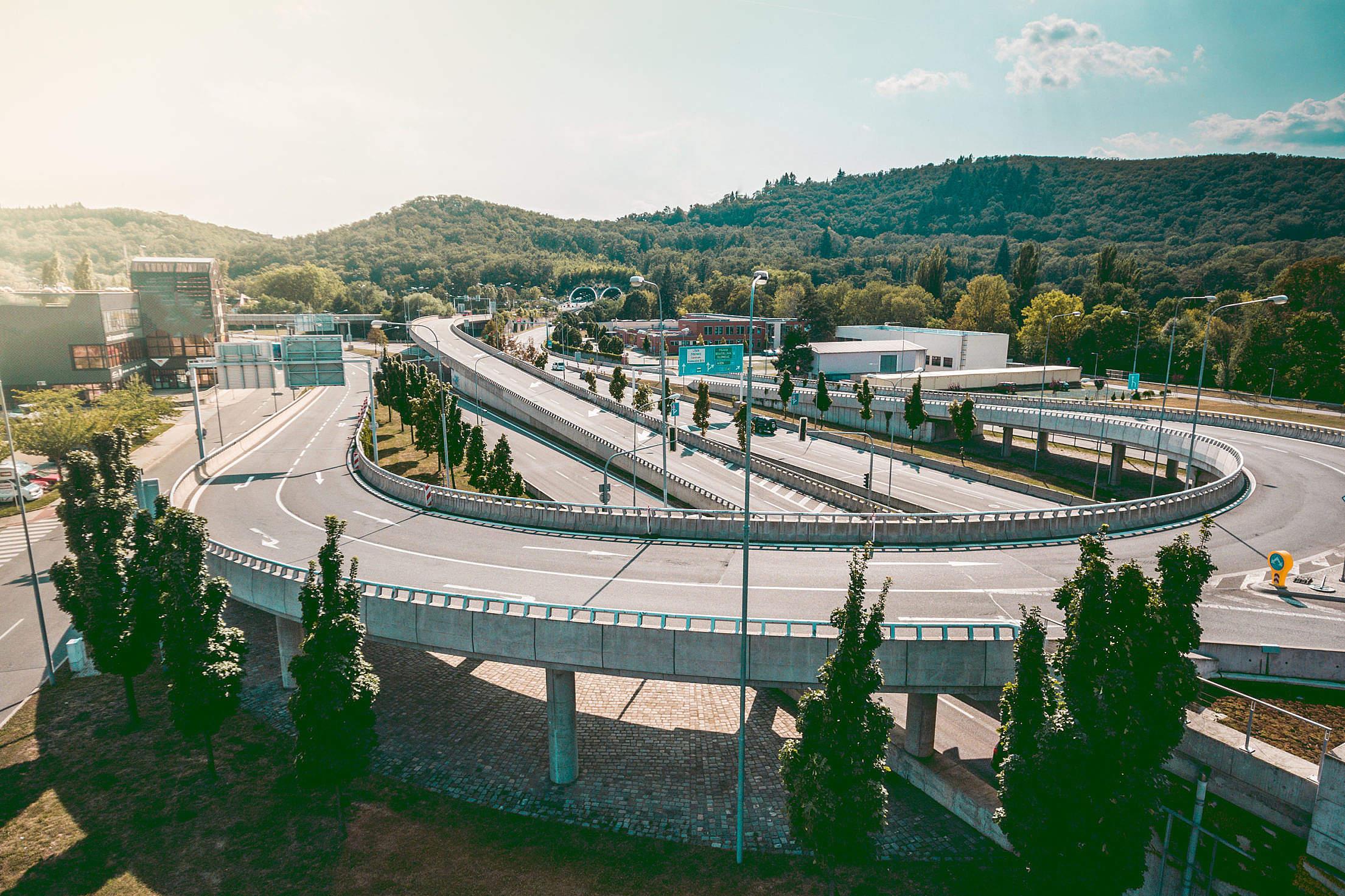 Two Level Road Interchange Free Stock Photo