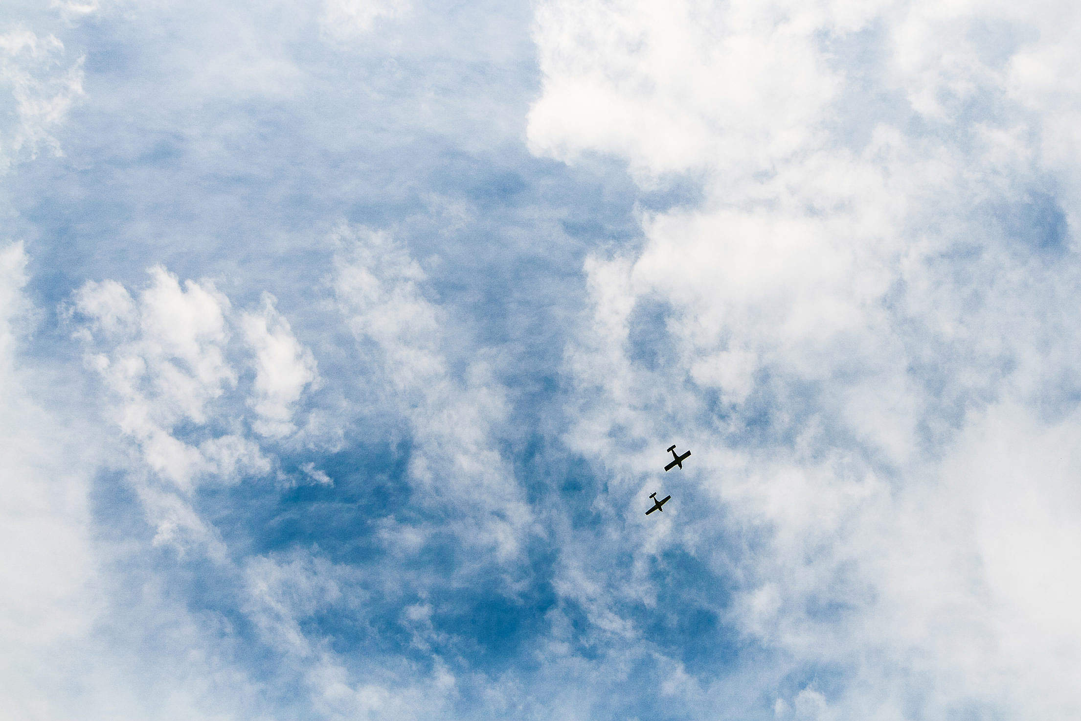 Two Little Planes Free Stock Photo