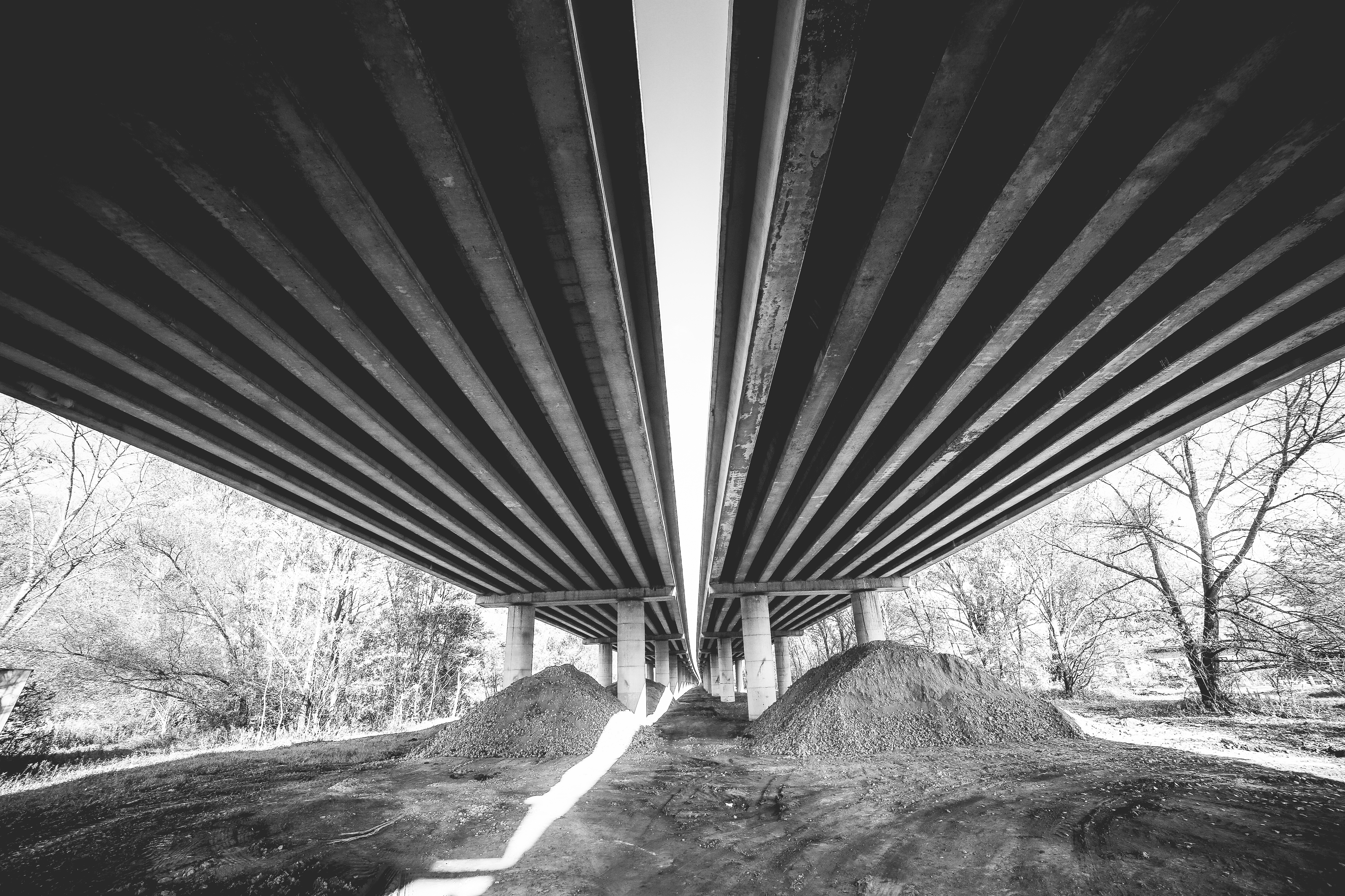 Two Long Ways: Under Highway Free Stock Photo