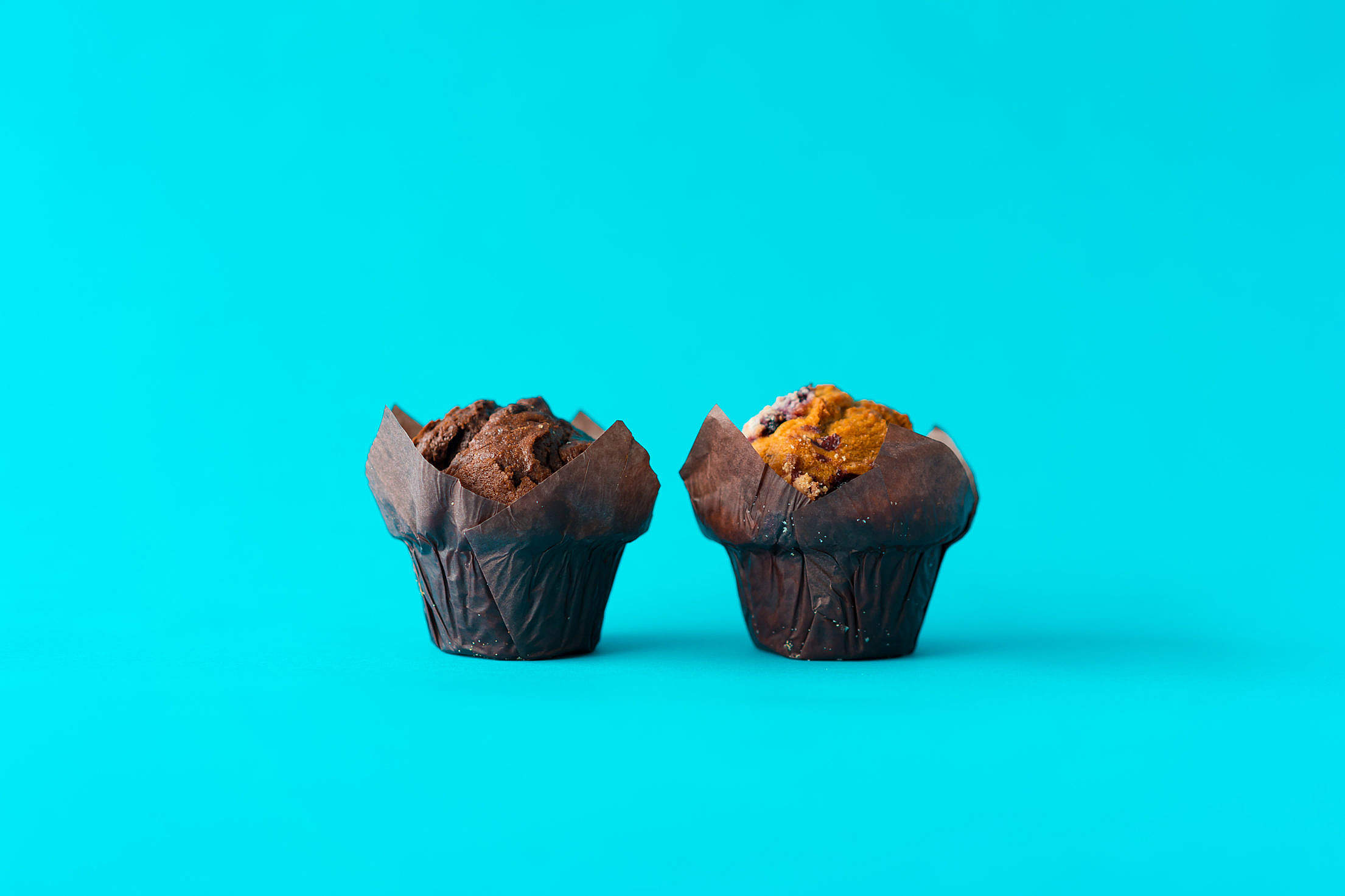Two Muffins Free Stock Photo
