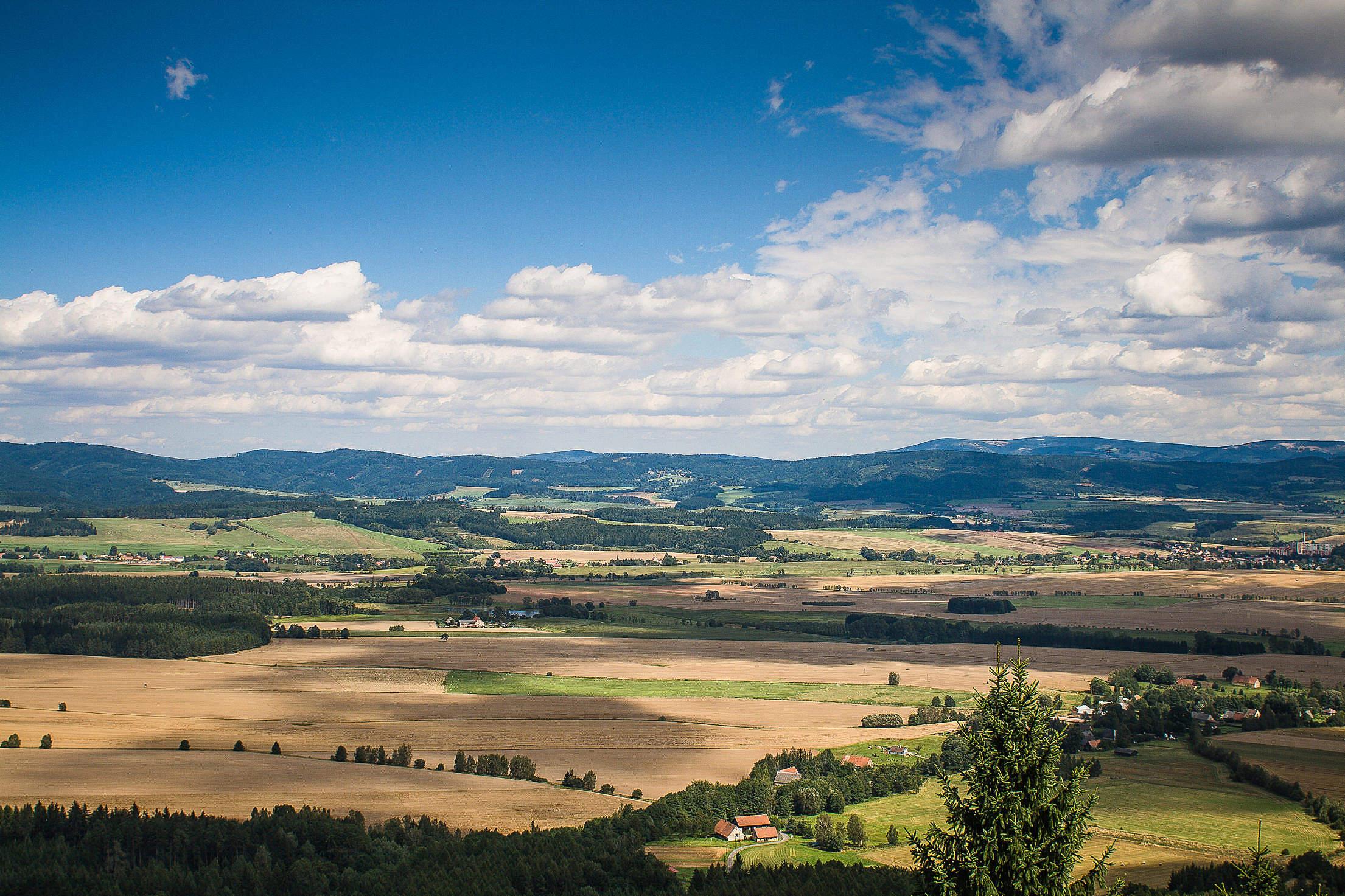 Typical Czech Panorama Free Stock Photo