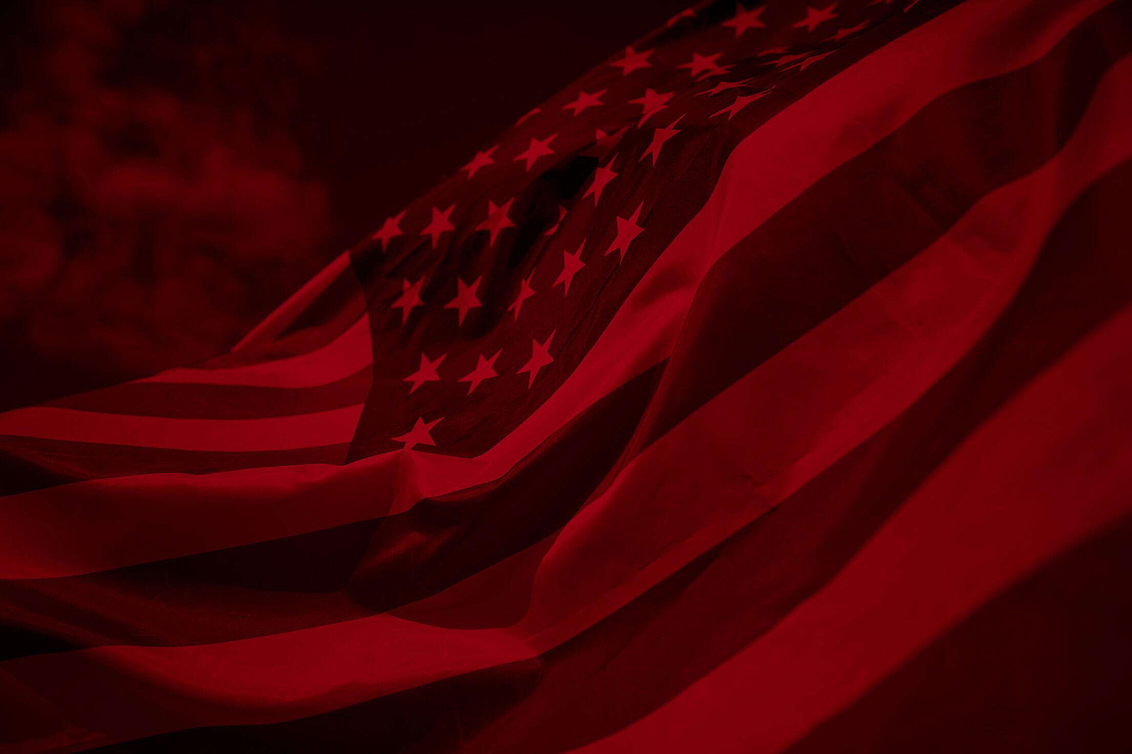 USA Flag Duotone Free Stock Photo