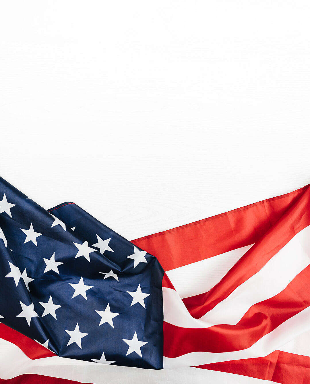 Download USA Flag on a White Background FREE Stock Photo