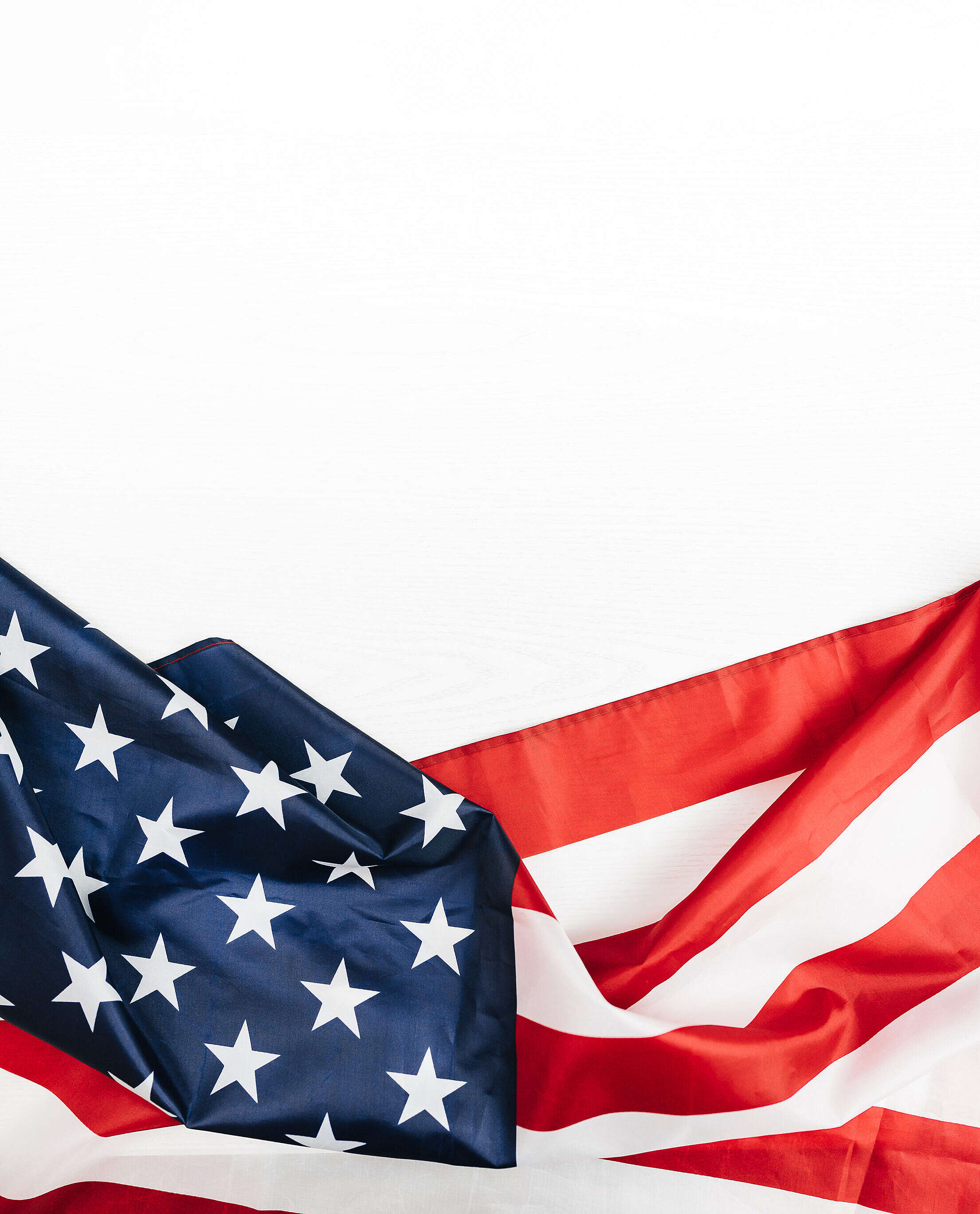 USA Flag on a White Background Free Stock Photo
