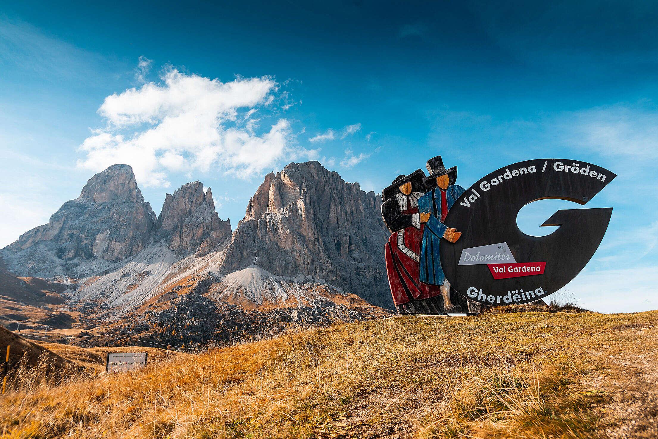 Val Gardena in Dolomites, Italy Free Stock Photo