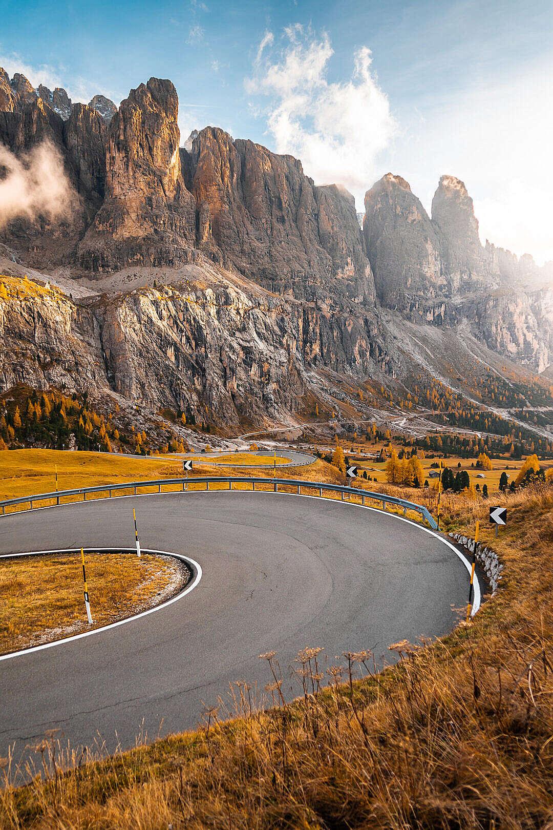 Download Val Gardena Roads, Dolomites Italy FREE Stock Photo