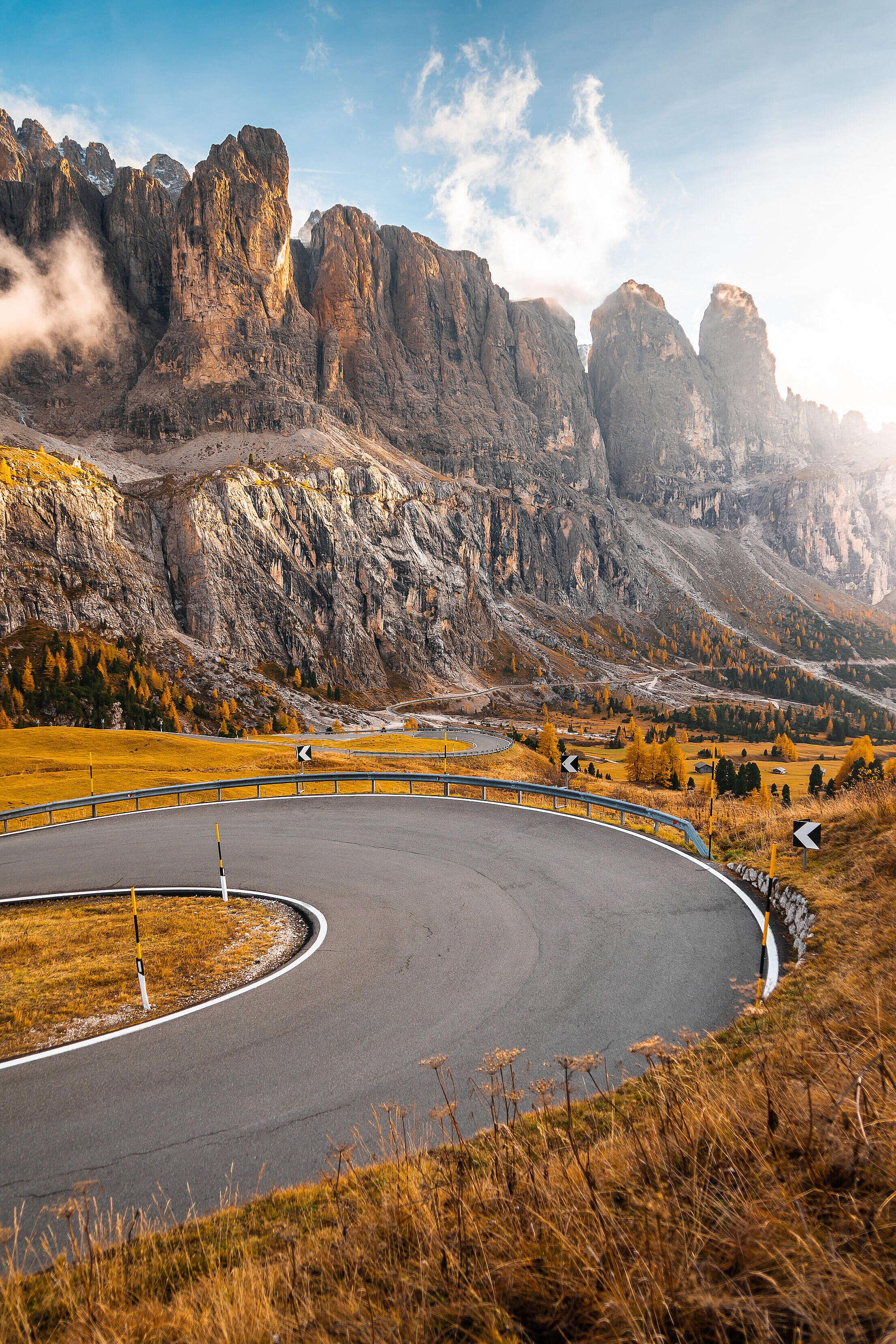 Val Gardena Roads, Dolomites Italy Free Stock Photo