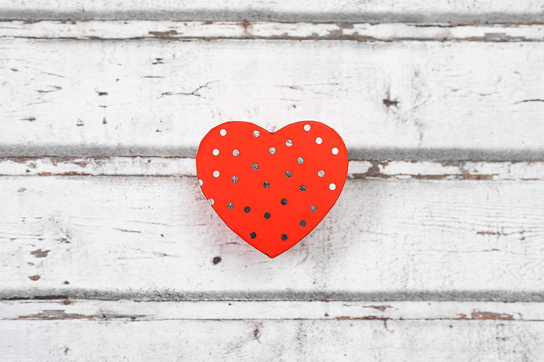 Download Valentine Box in The Shape of Heart FREE Stock Photo