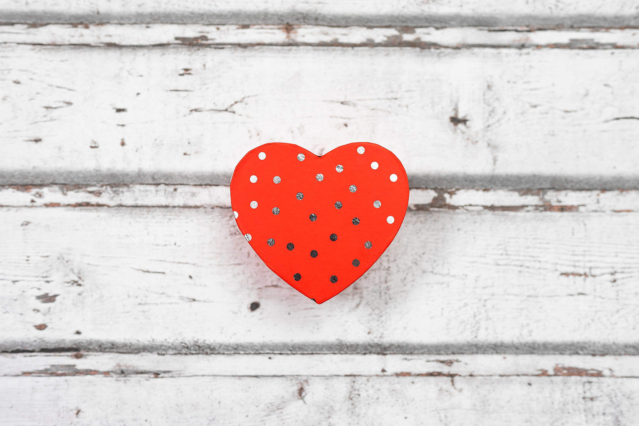 Valentine Box in The Shape of Heart Free Stock Photo