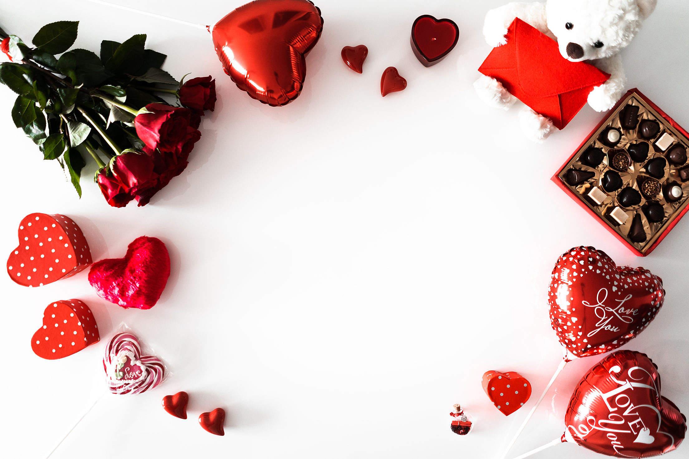 Valentines Day Background Free Stock Photo