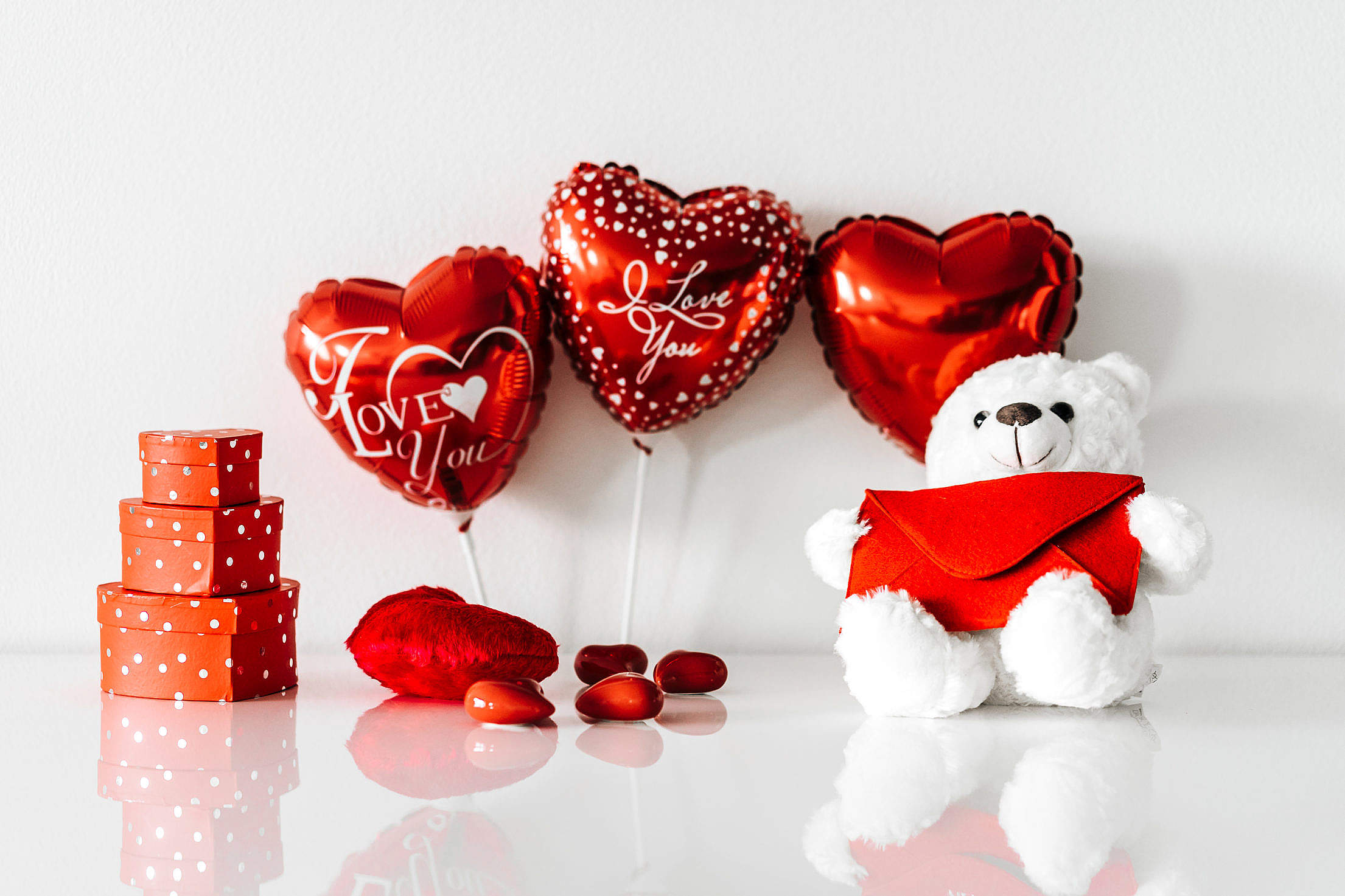 Valentine's Day Still Life Free Stock Photo