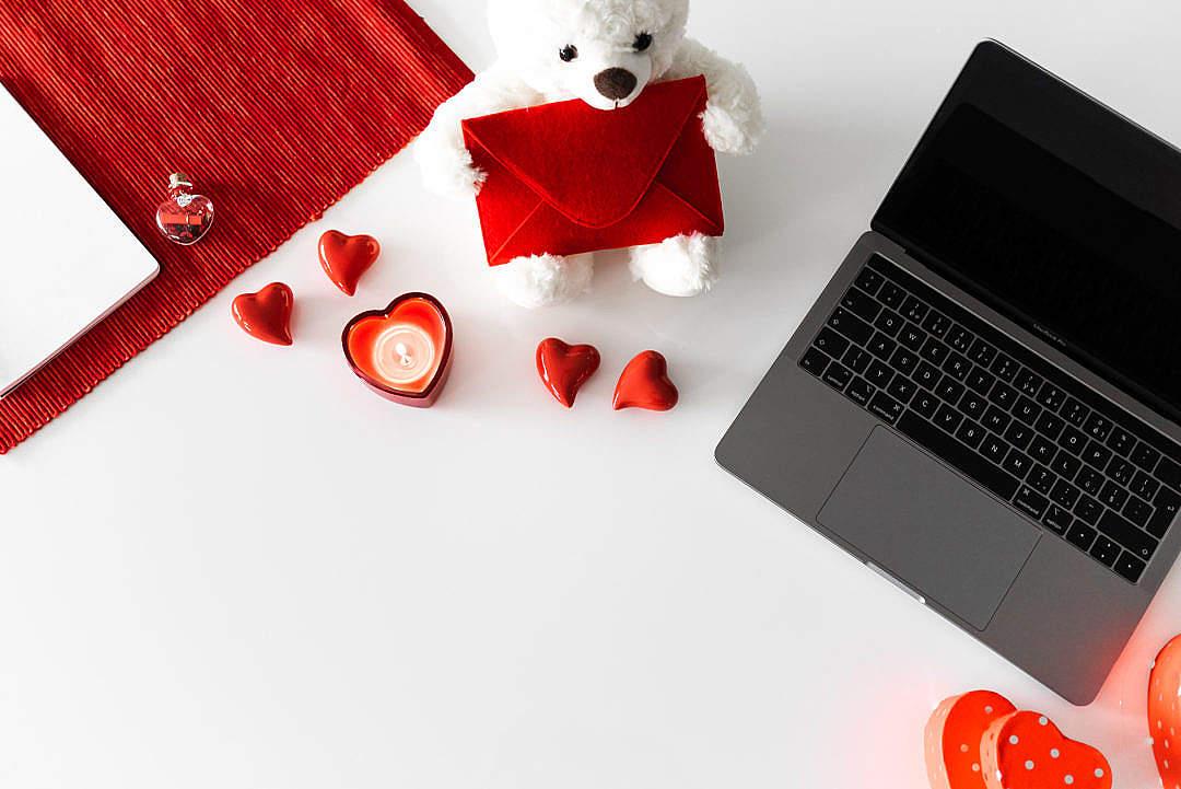 Download Valentine's Present Background FREE Stock Photo