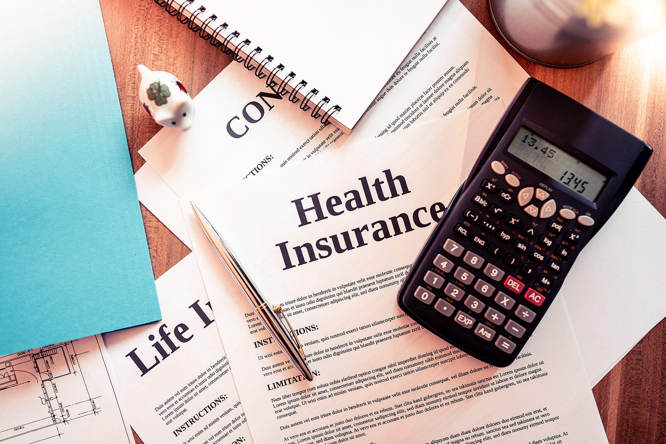 Various Insurance Policies Free Stock Photo