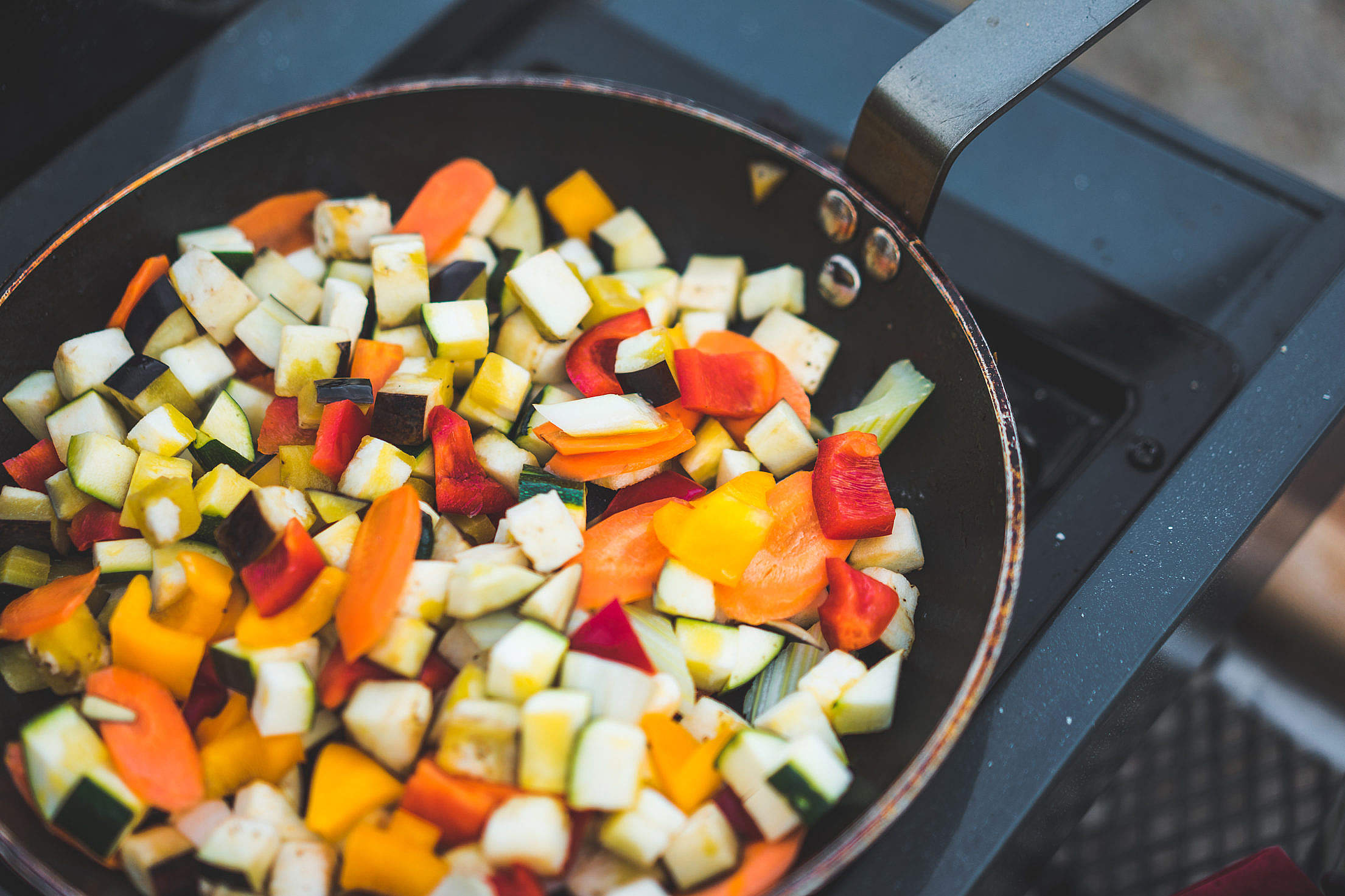 Vegetables on a Pan Free Stock Photo