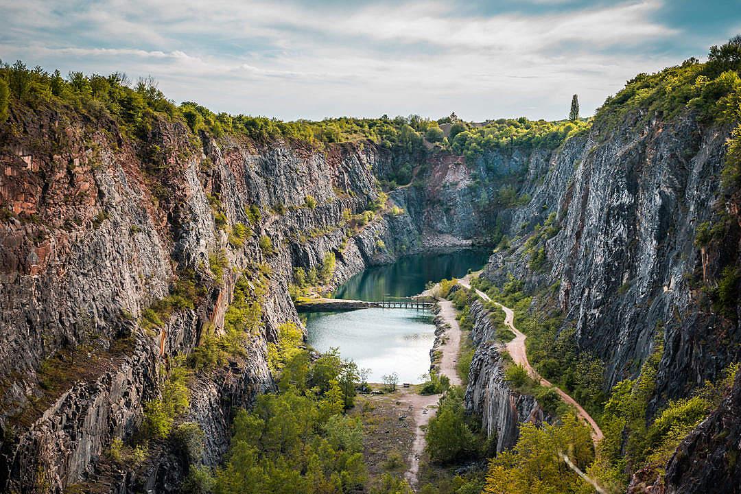 Download Velka Amerika Quarry in Czech Republic FREE Stock Photo
