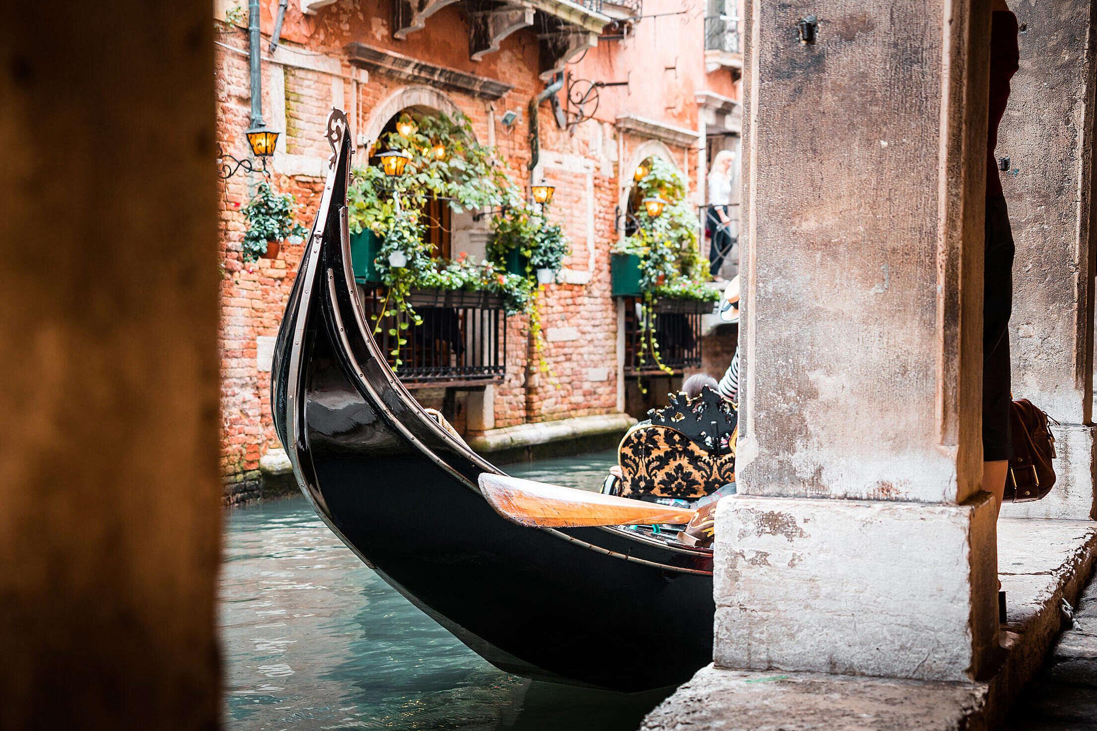 Venice Gondola, Italy Free Stock Photo