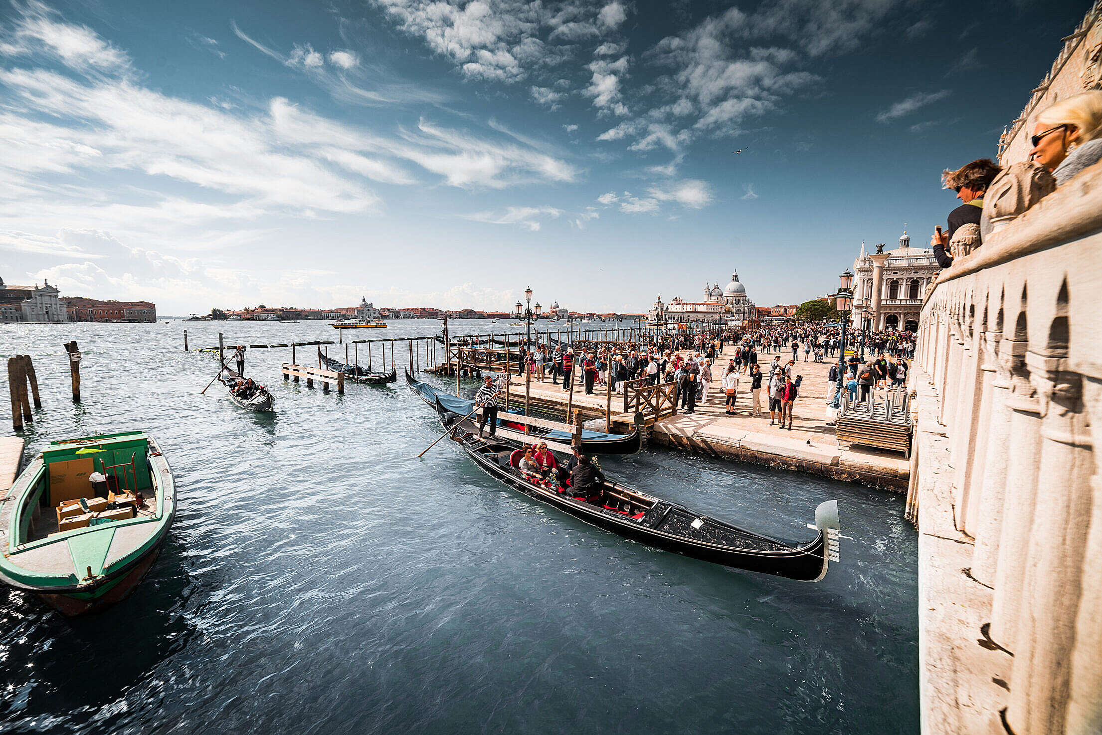 (click to download) Venice Gondolas FREE Stock Photo