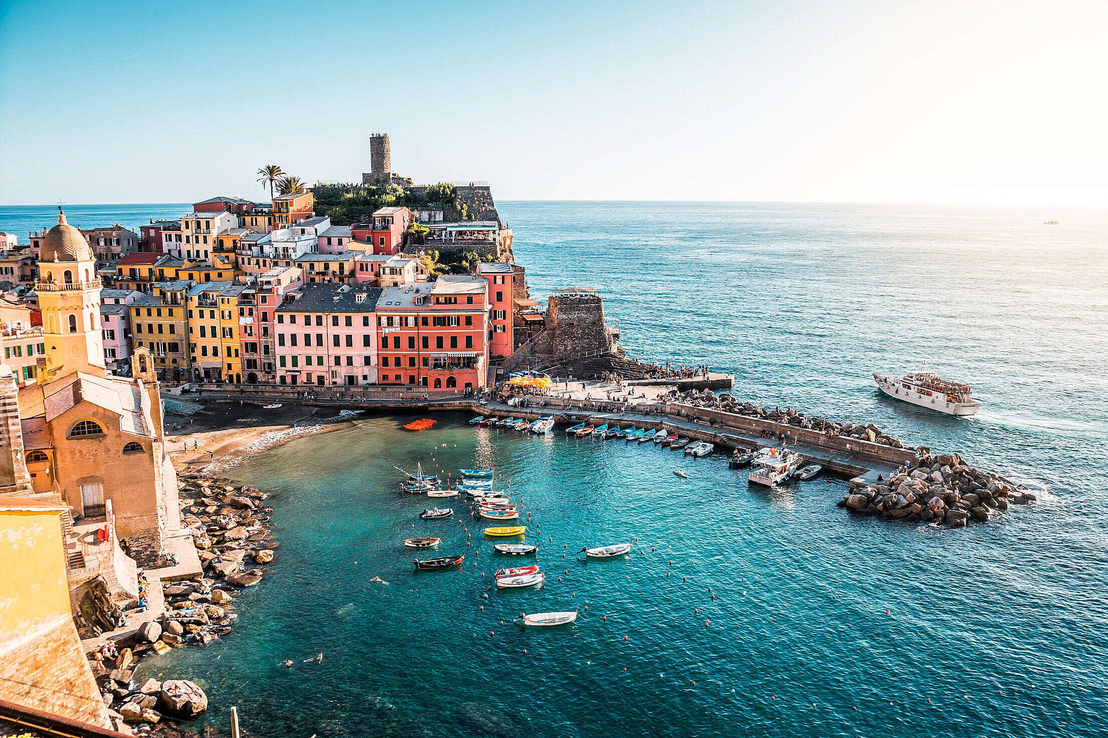 Vernazza, Cinque Terre, Italy Free Stock Photo