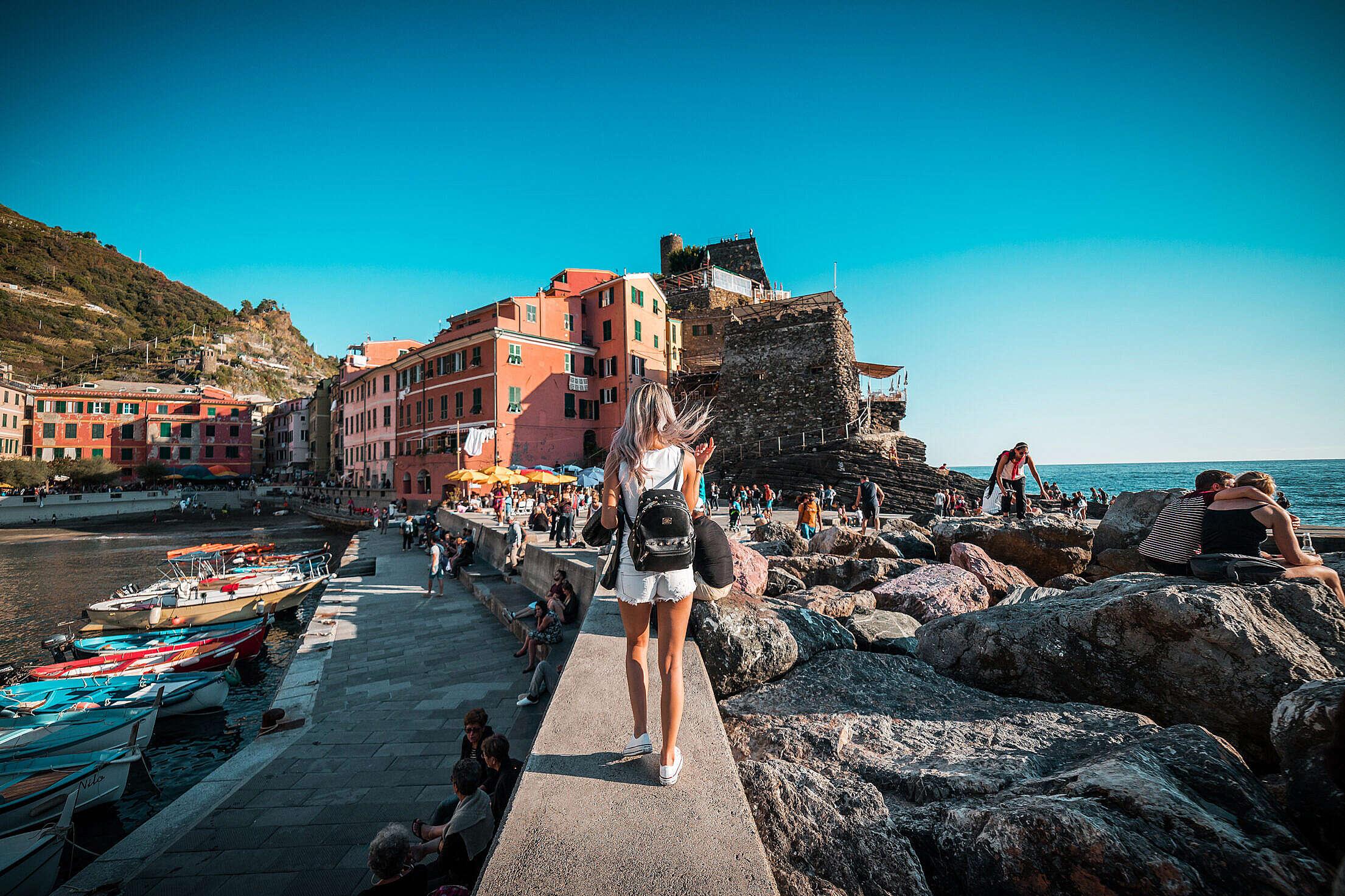 Vernazza in Italy, Cinque Terre Free Stock Photo