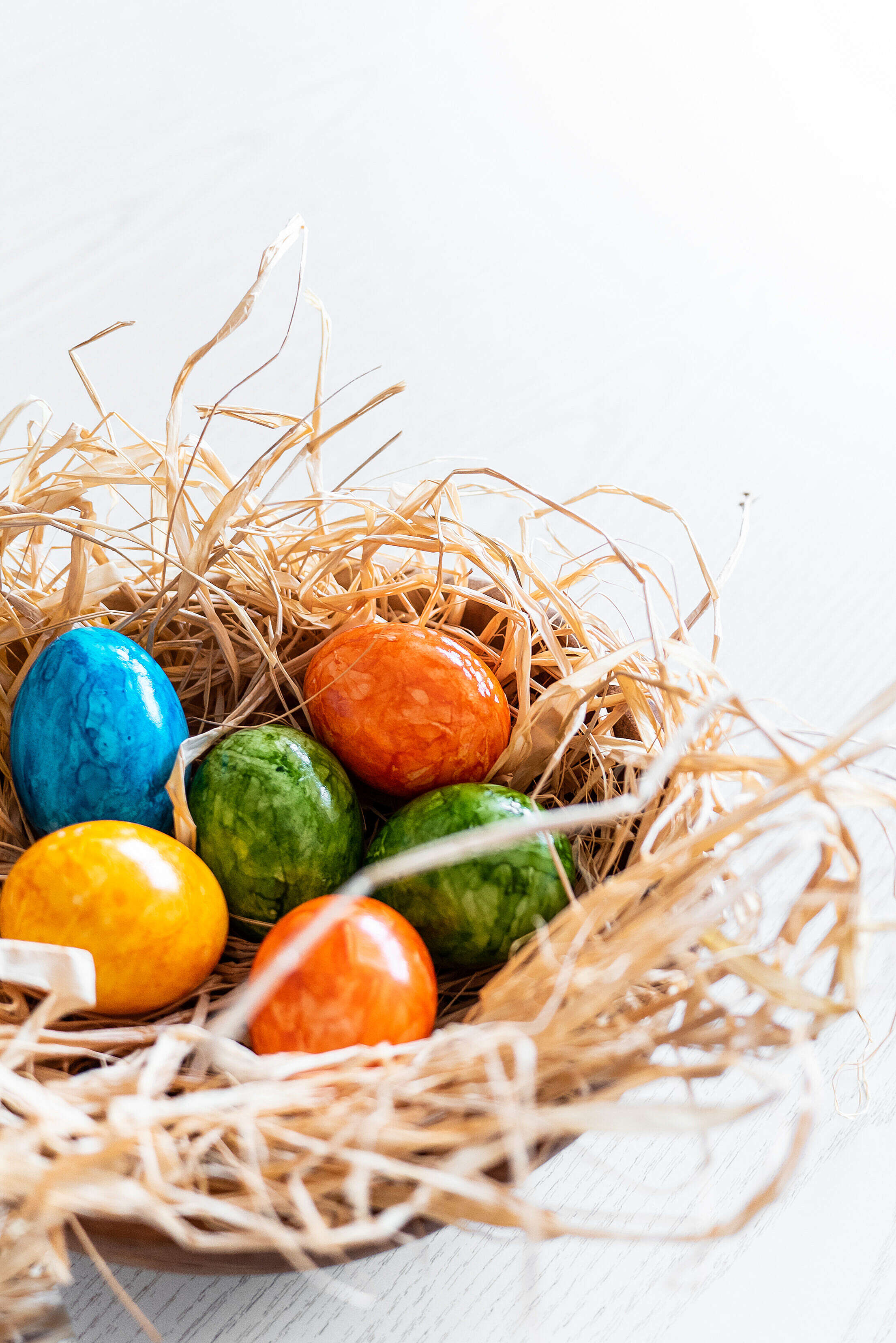 Vertical Colored Easter Eggs Free Stock Photo