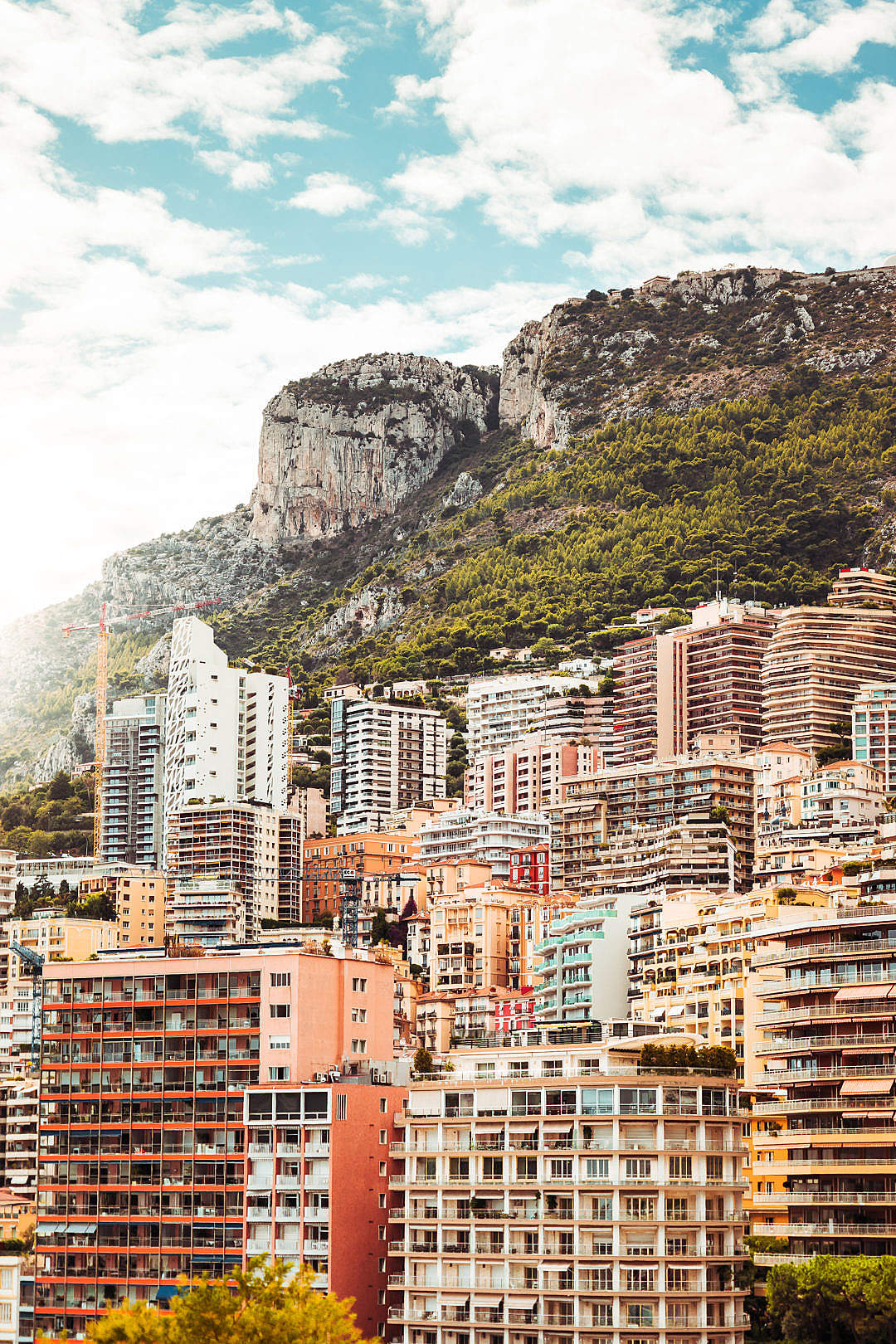 Download View at The Colourful Houses Located on The Hill in Monaco FREE Stock Photo