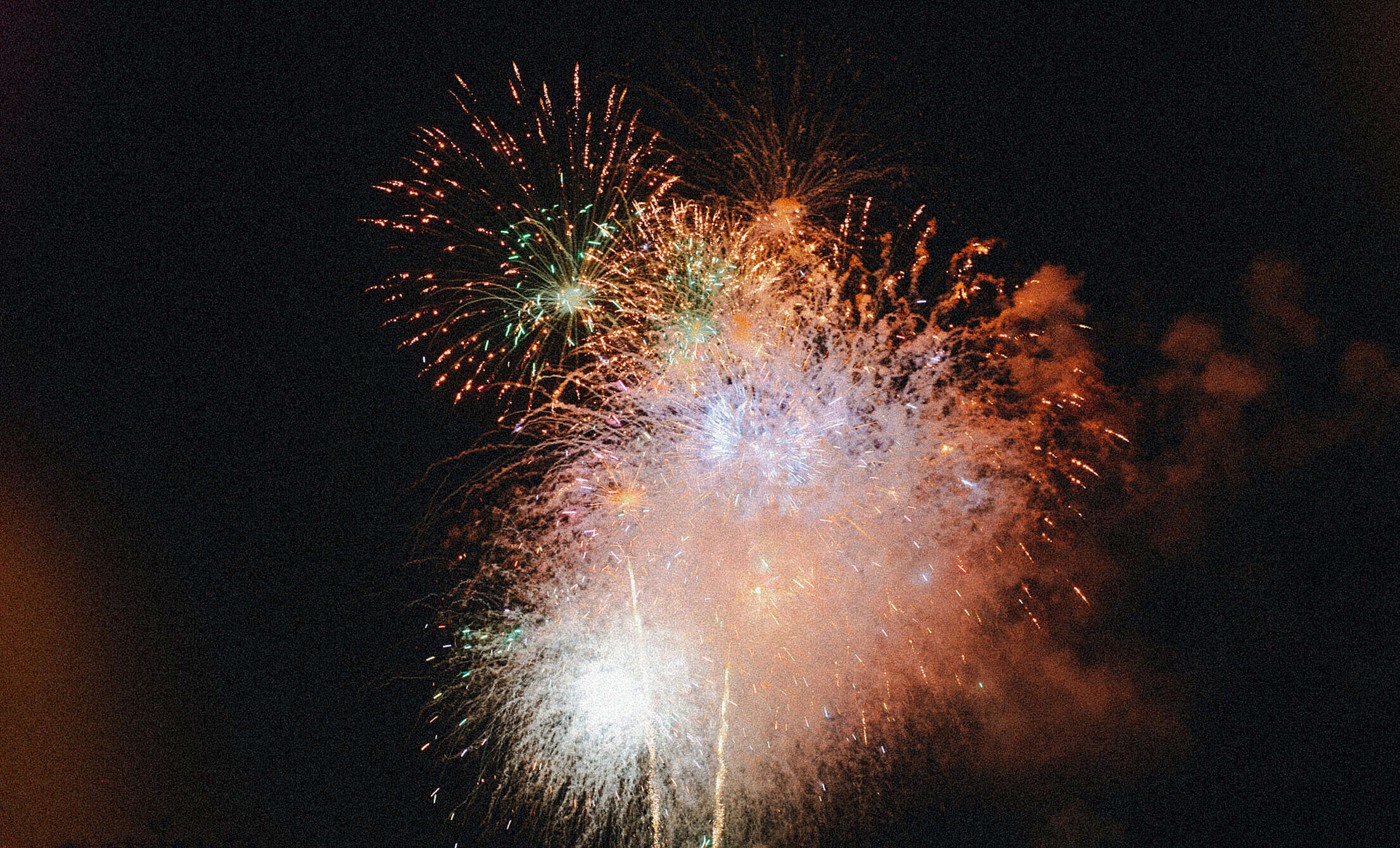 Vintage 4th July Fireworks Free Stock Photo