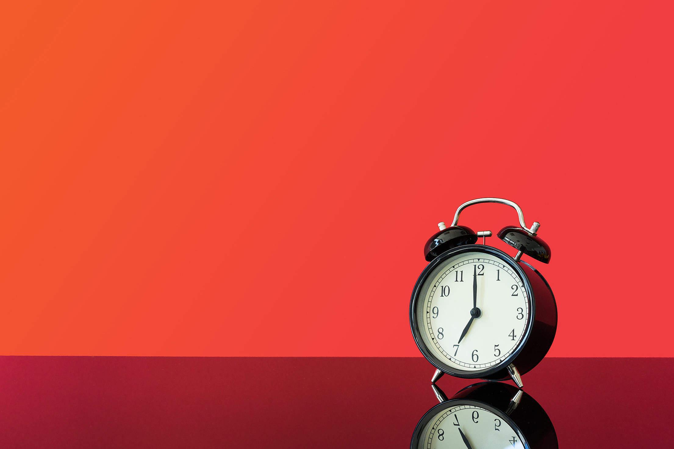 Vintage Alarm Clock Free Stock Photo