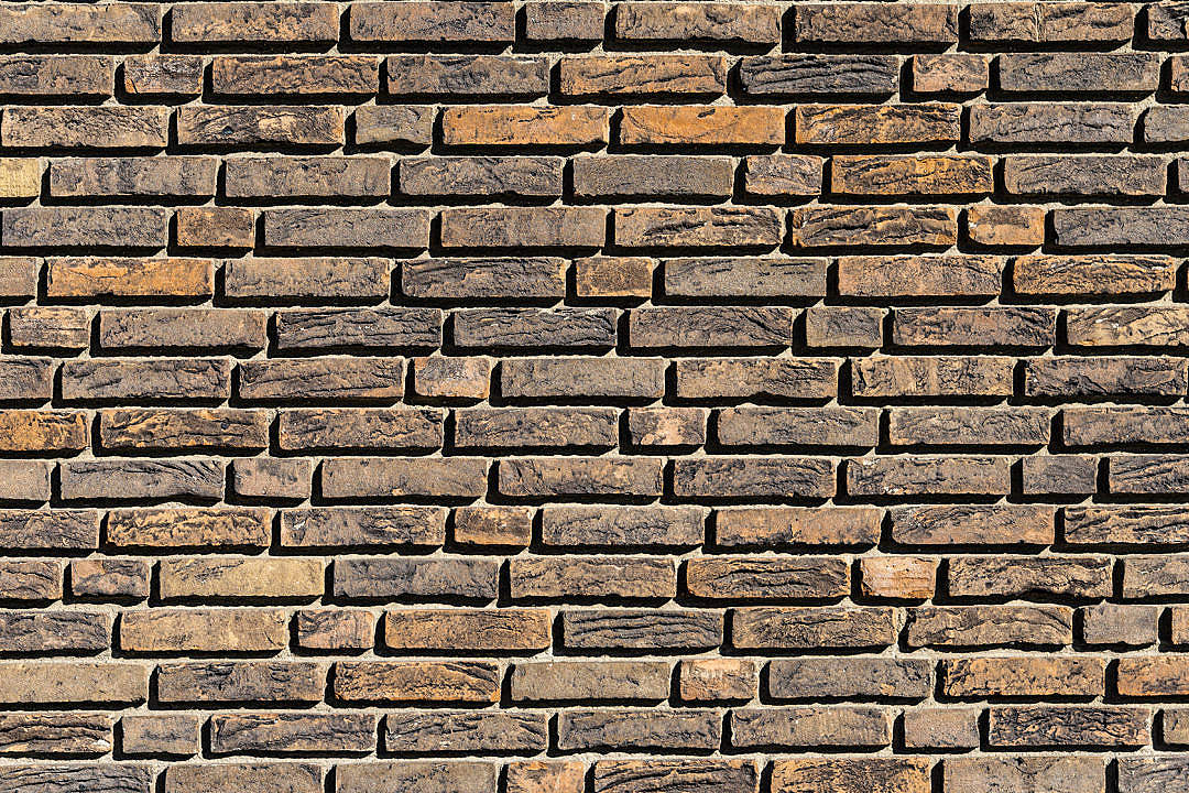 Download Vintage Brown Bricks Wall Pattern FREE Stock Photo