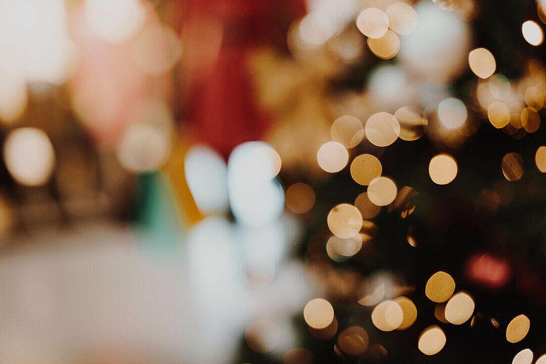 Download Vintage Christmas Bokeh Background FREE Stock Photo