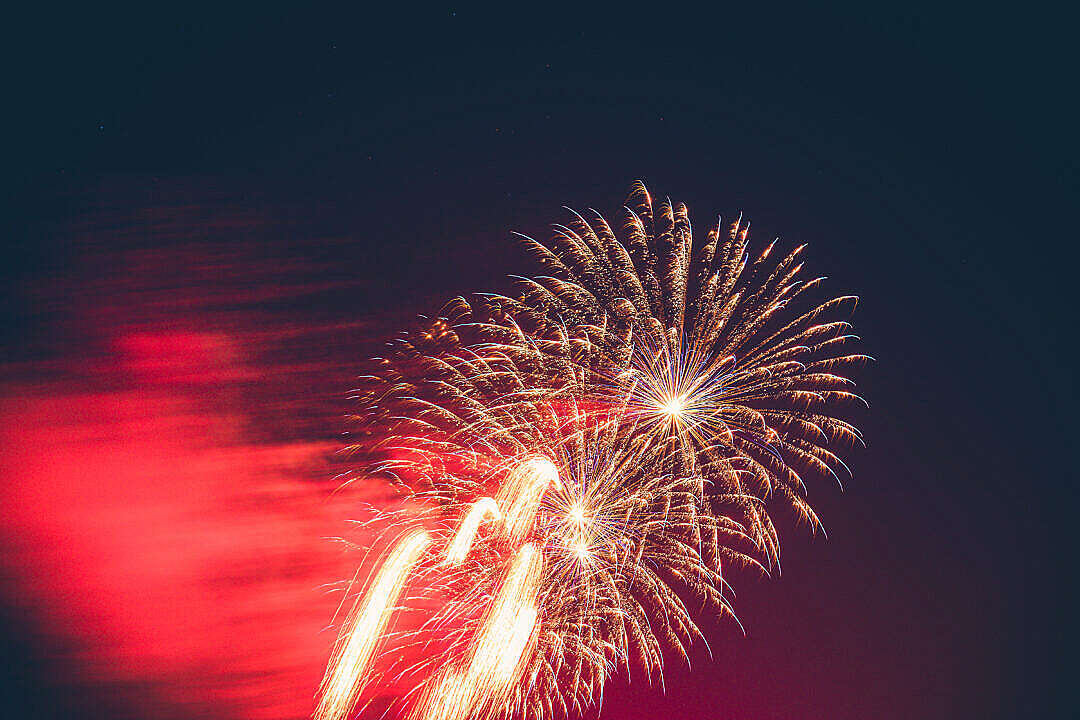 Download Vintage Fireworks 4th of July FREE Stock Photo