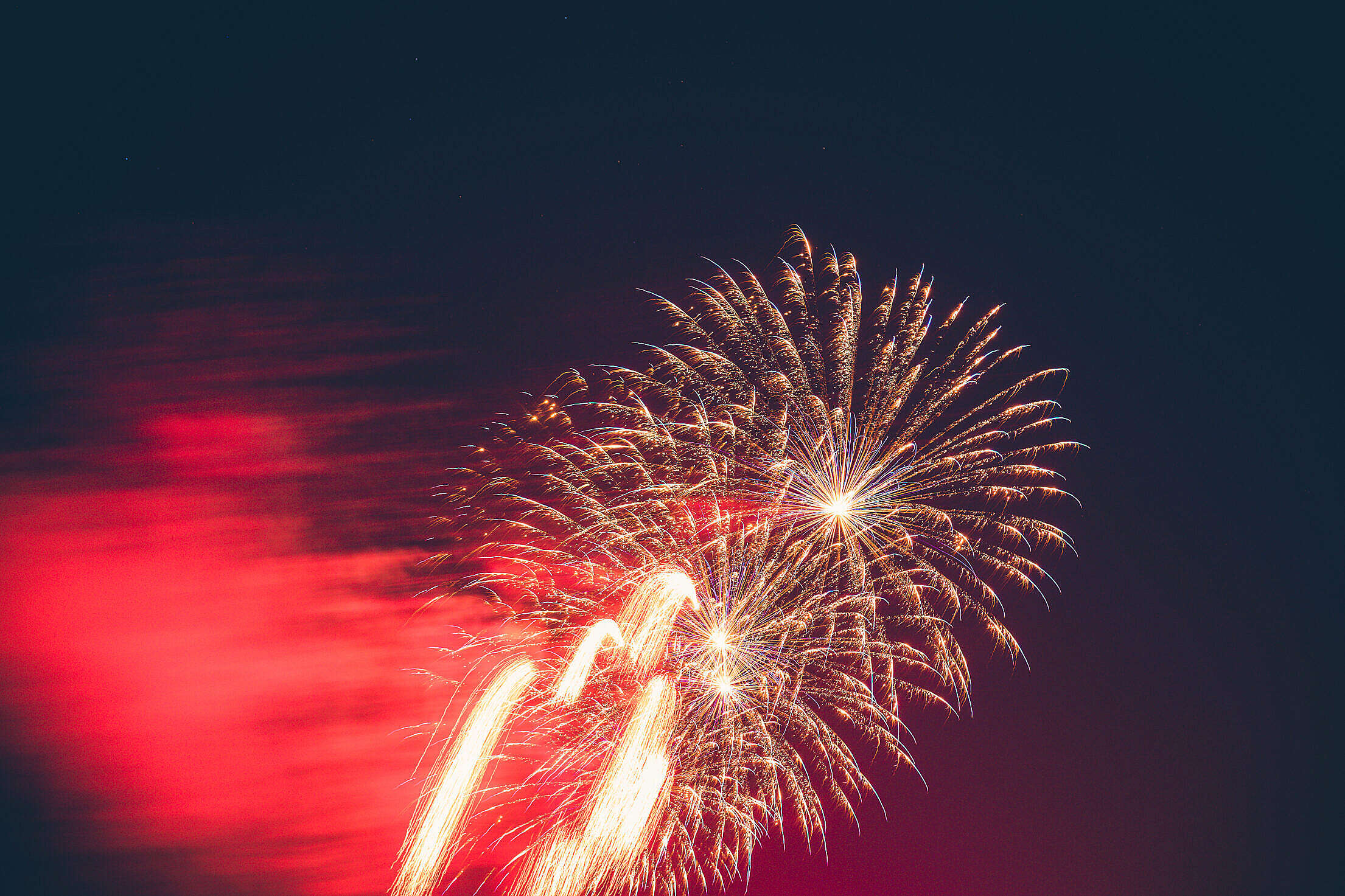 Vintage Fireworks 4th of July Free Stock Photo