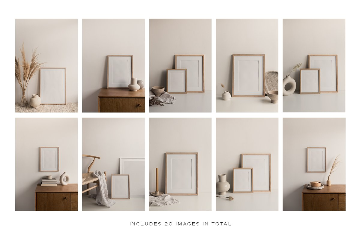 20 Artwork Frame Photo Mockups Bundle