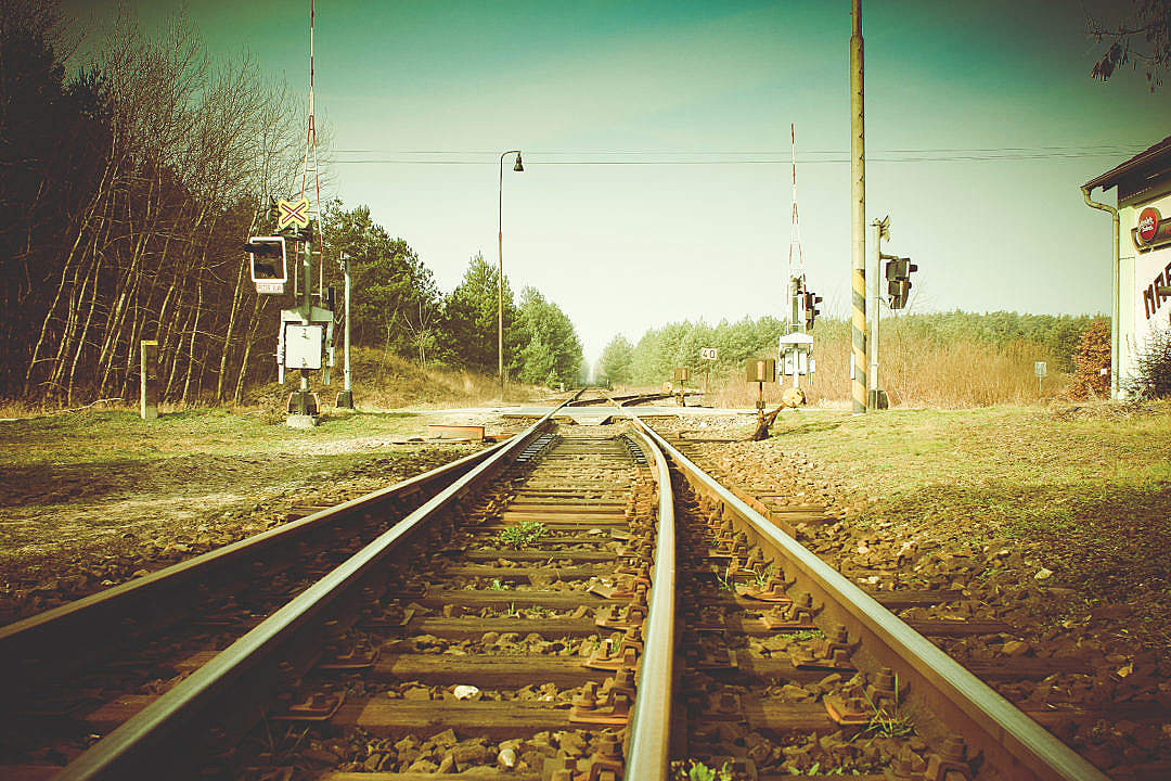 Download Vintage Rail Crossing FREE Stock Photo