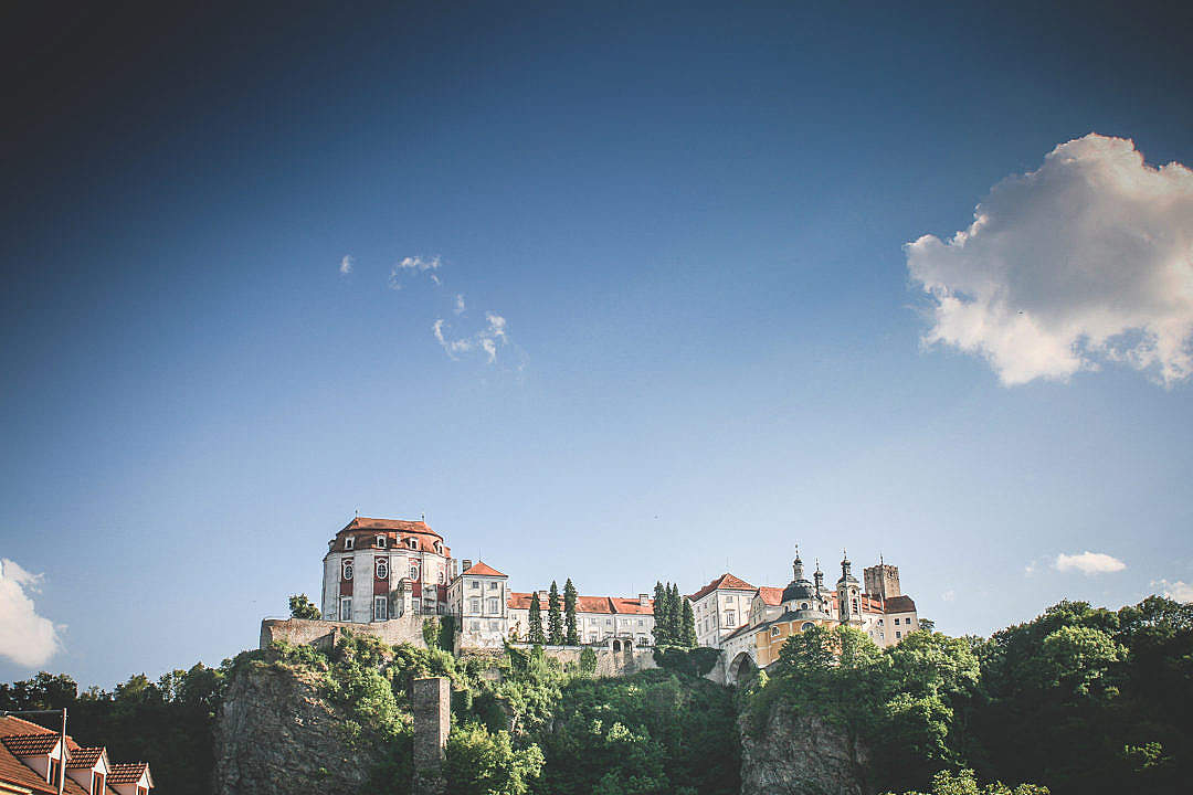 Download Vranov Castle #2: With Big Sky FREE Stock Photo