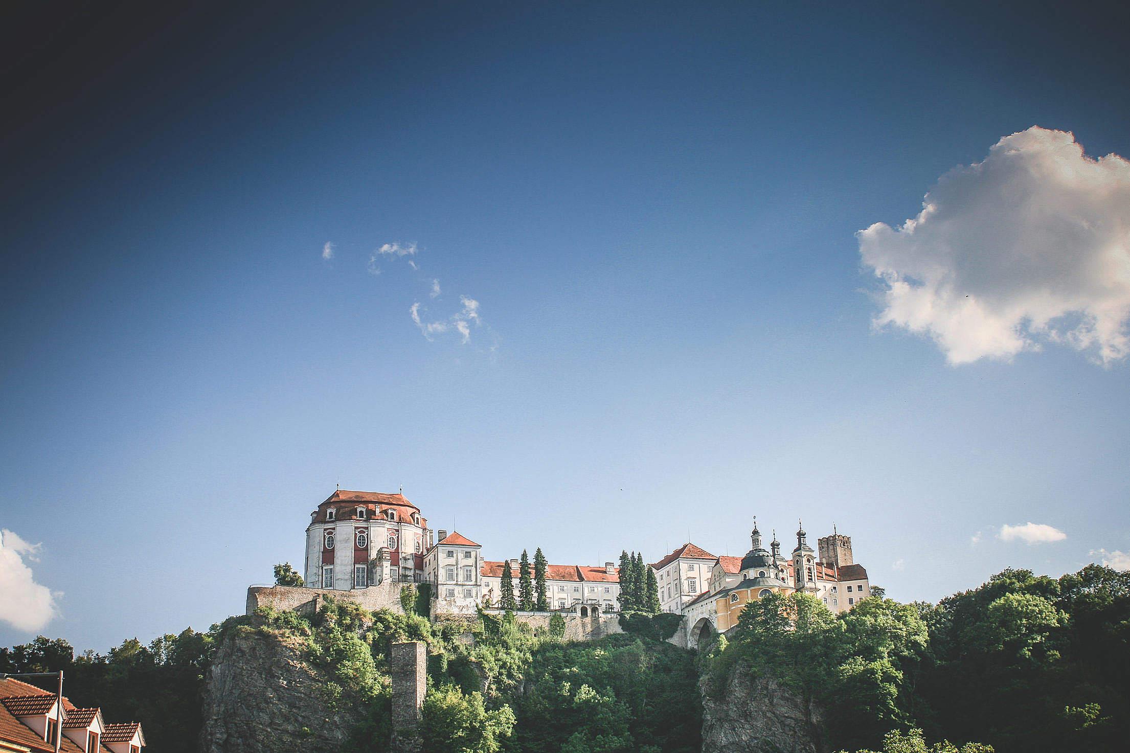 Vranov Castle #2: With Big Sky Free Stock Photo