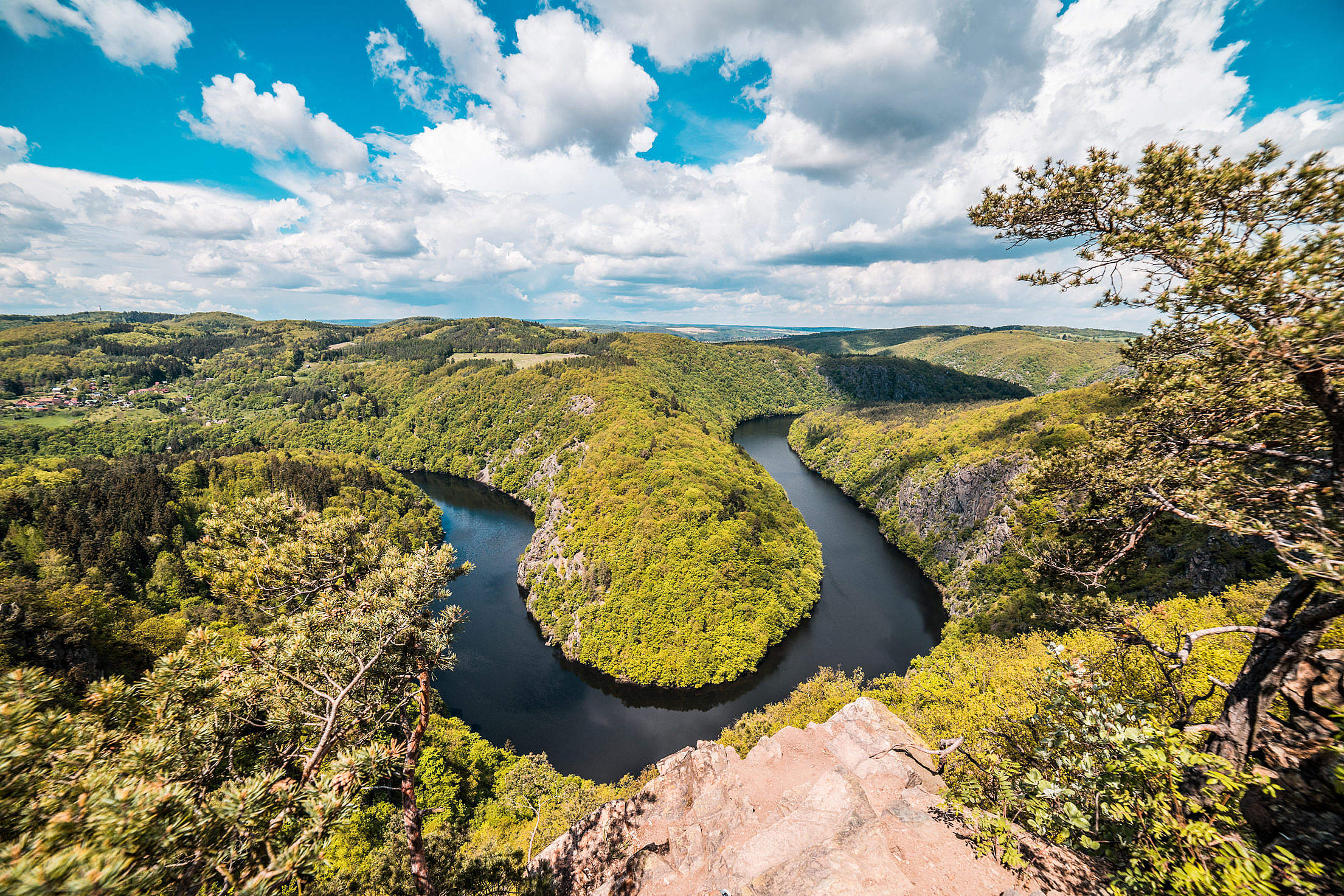 Vyhlidka Maj Czech Natural Look-Out Viewpoint Free Stock Photo