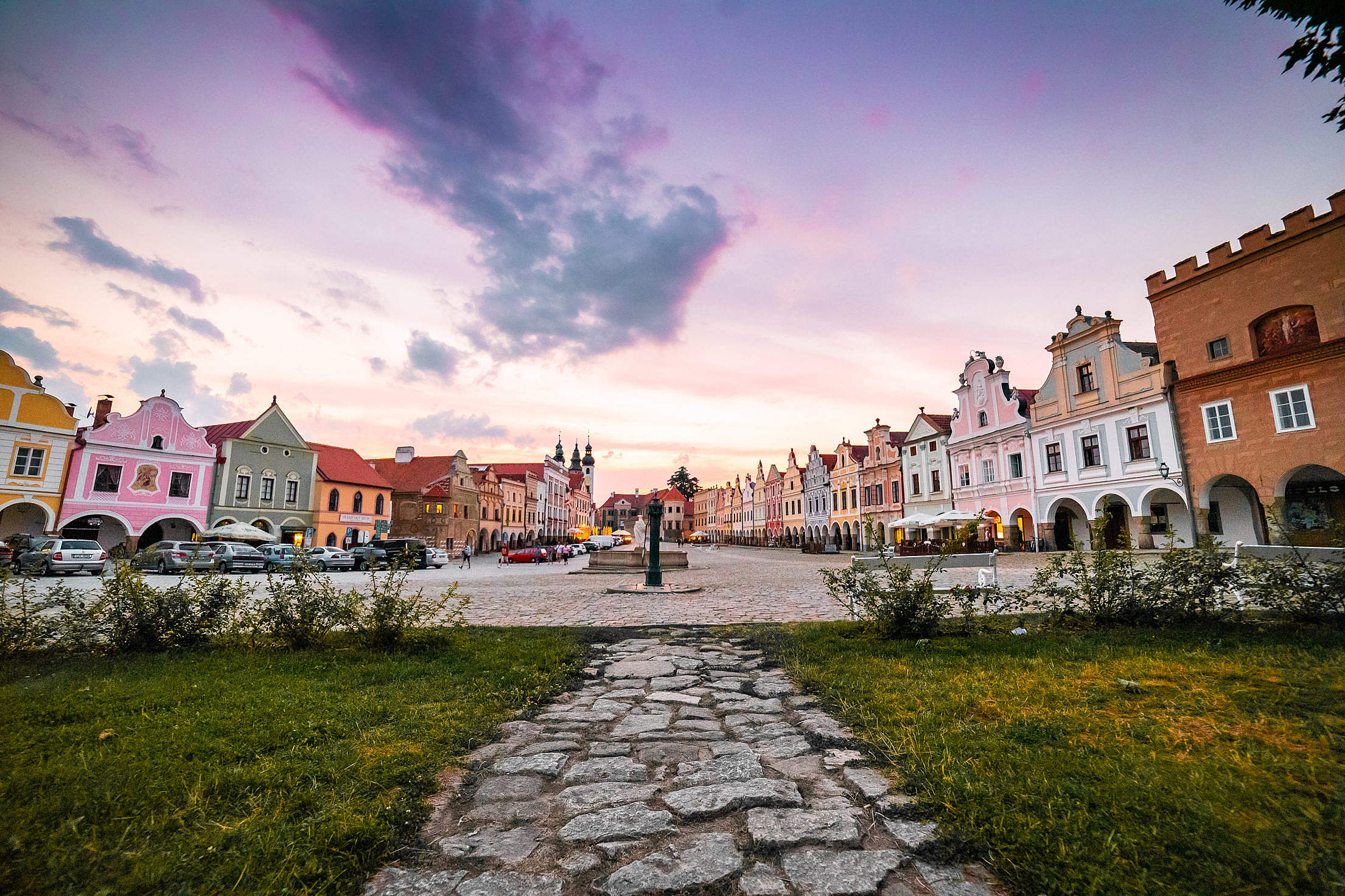 Walkway Leading to The Square in Telč Free Stock Photo