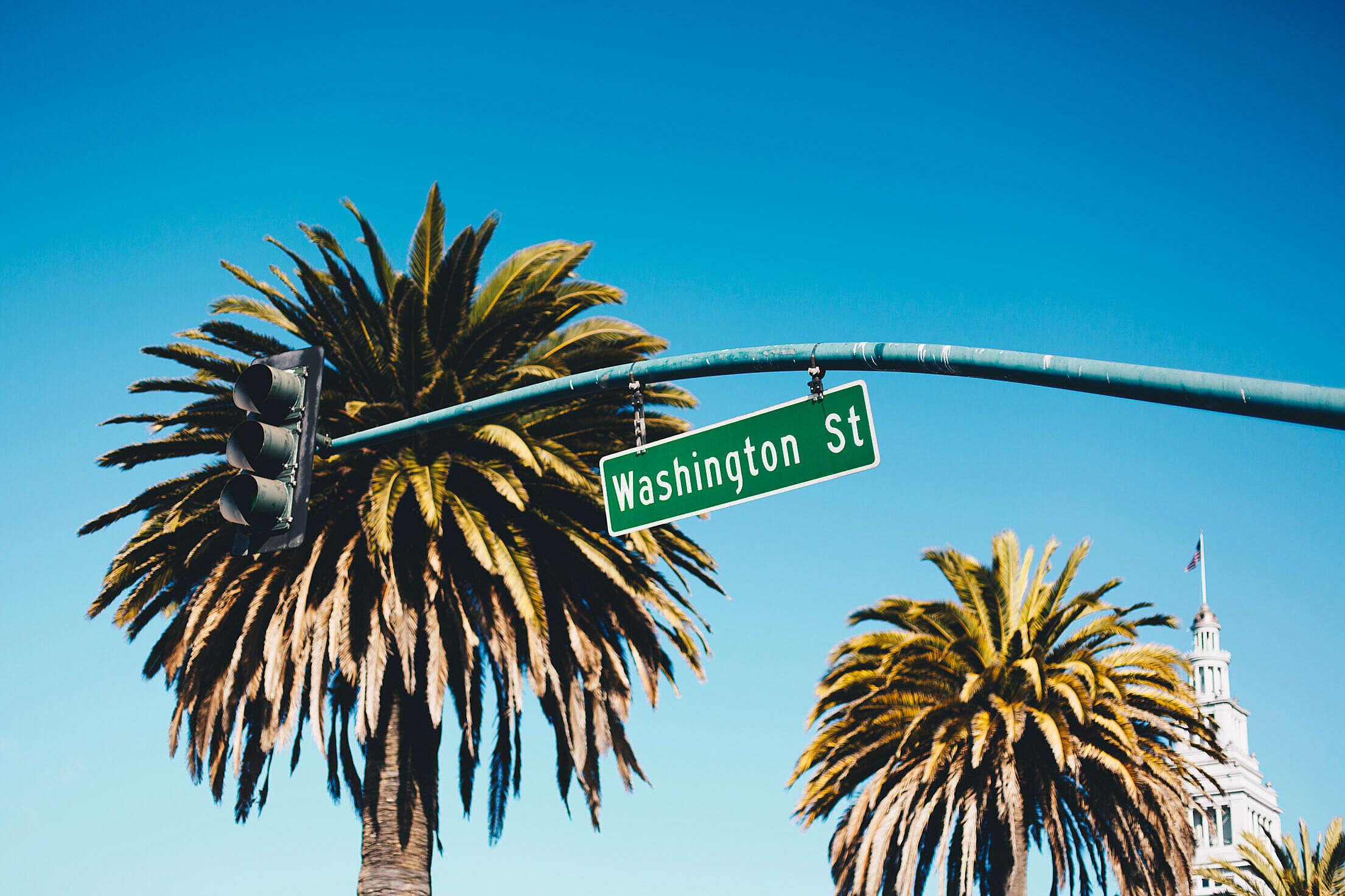 Washington Street San Francisco Free Stock Photo