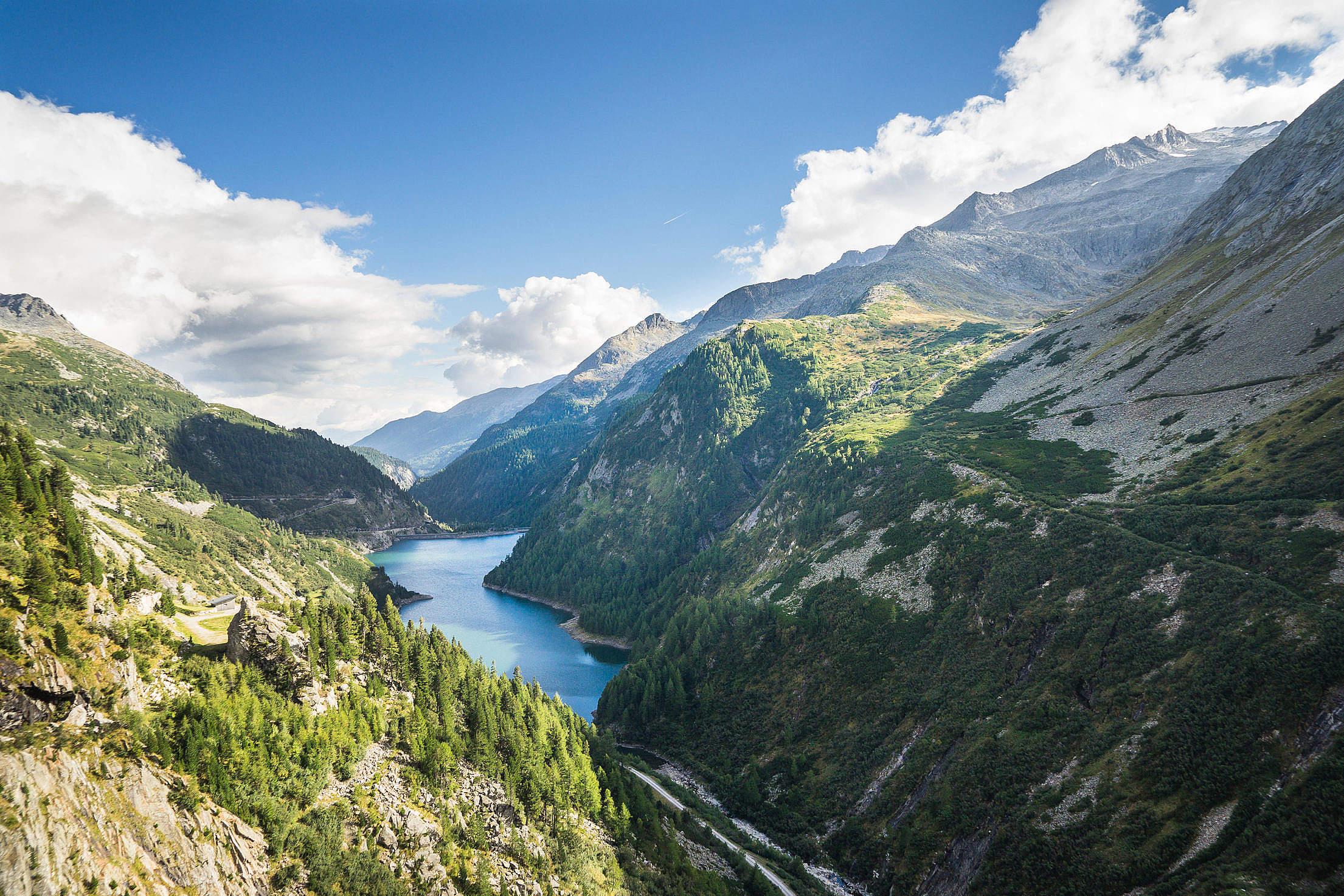 Water Reservoir Between Beautiful Mountains Free Stock Photo