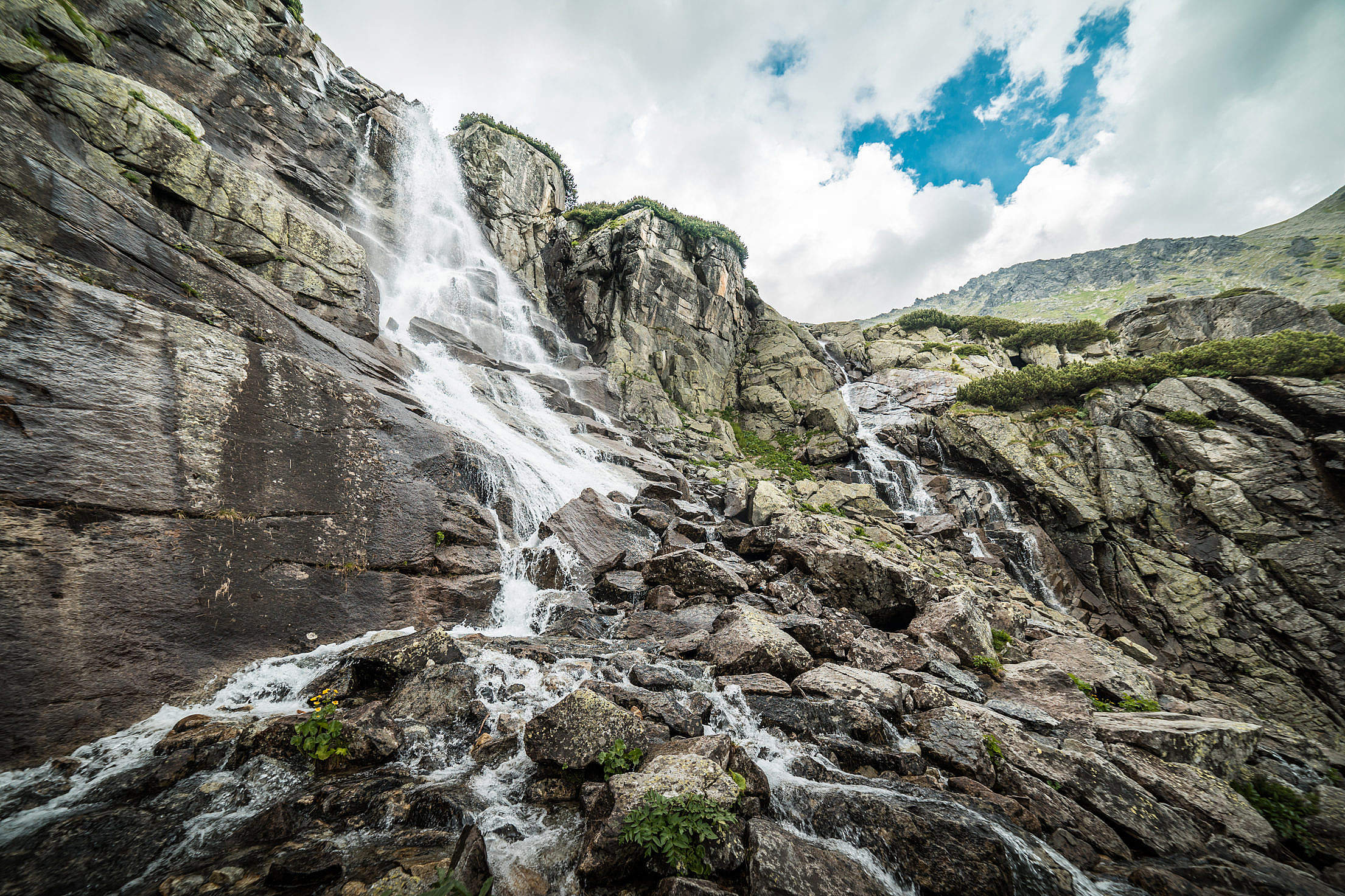 "Waterfall ""Skok"" in High Tatras, Slovakia Free Stock Photo"