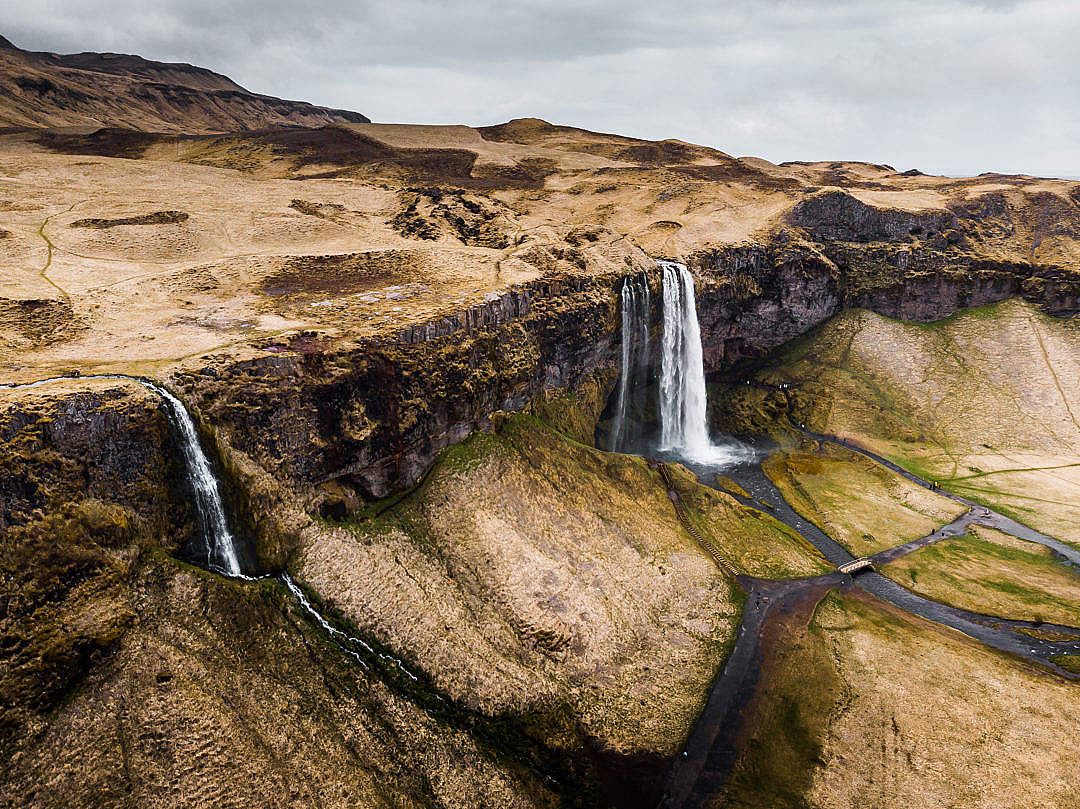 Download Waterfalls in Iceland FREE Stock Photo